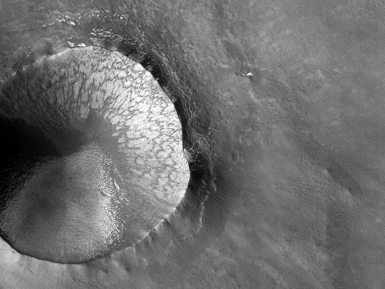 Krater påde Nordre Slettene