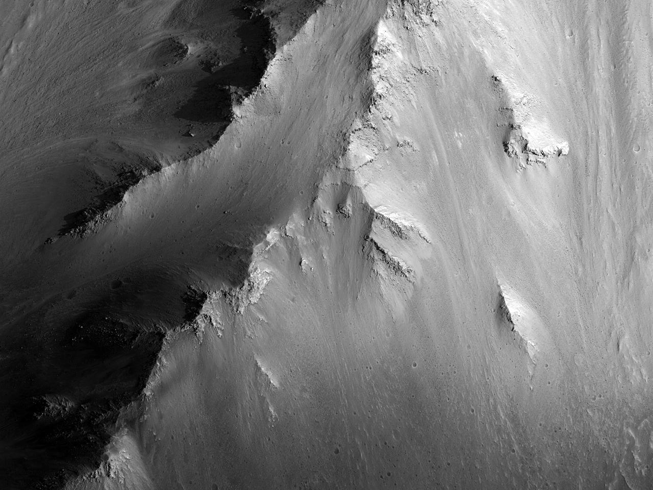 مراقبة المنحدرات في منخفضات كاندور (Candor Chasma)