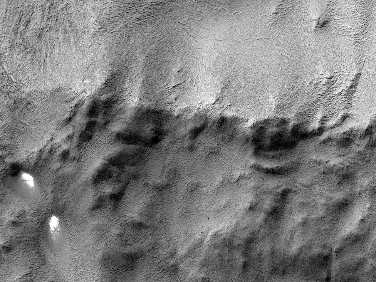 Terreng i Mcmurdo-krateret