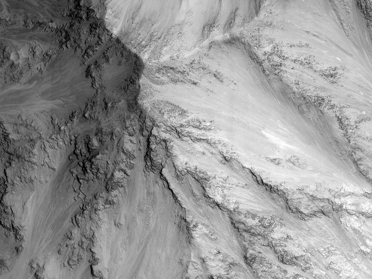 Наблюдения за изменениями склонов каньона Capri Chasma