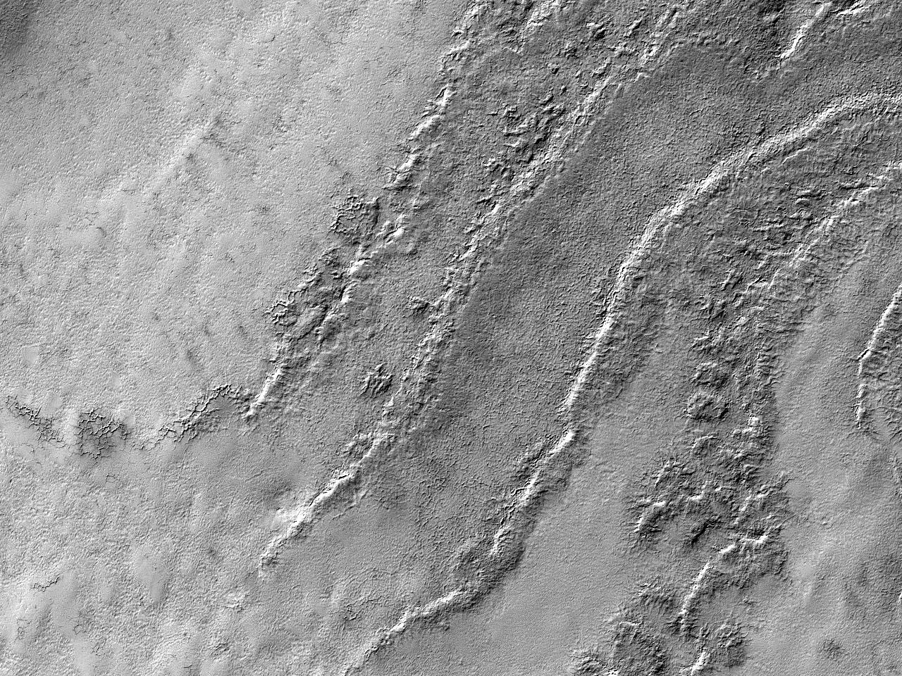 Обнажение слоистых отложений Южного полюса