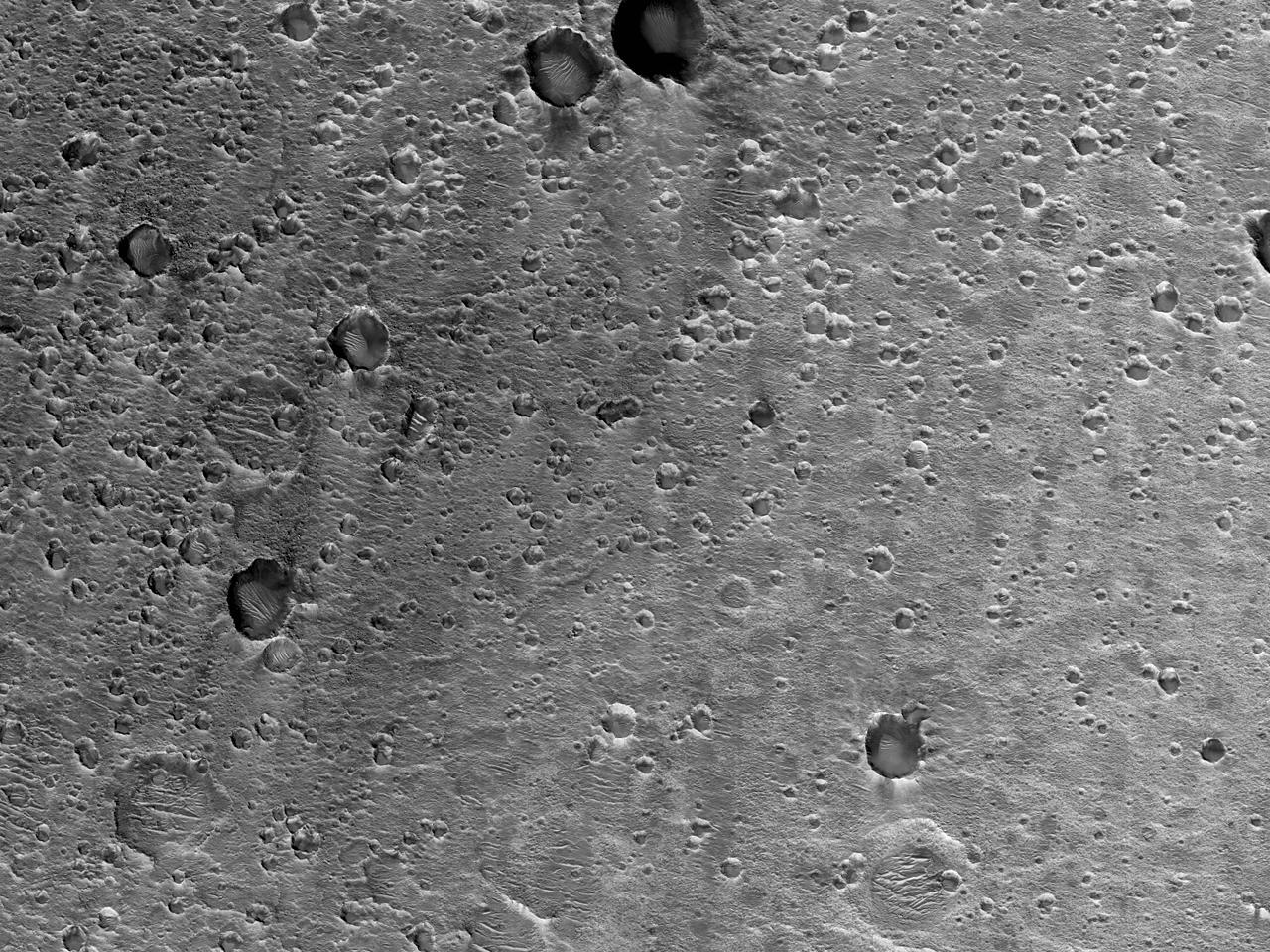 Mulig landingssted for ExoMars i Oxia Paulus-regionen