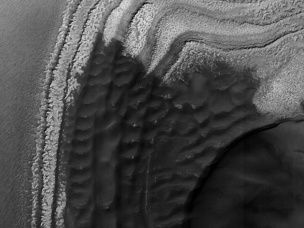 Sedimentvifter nær bakketopper