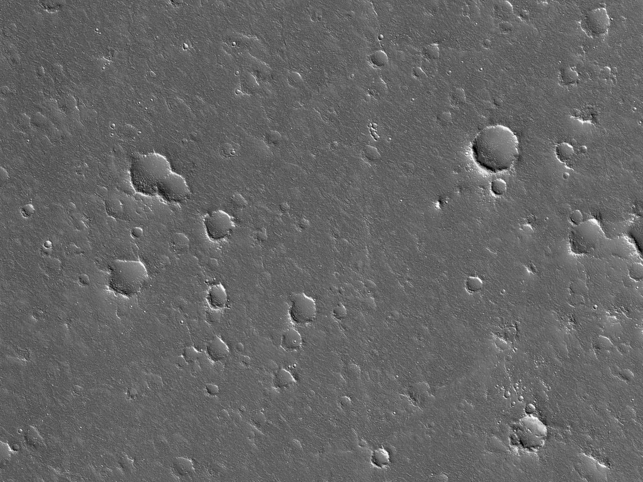 Морщинистая гряда или граница потока на равнине Utopia Planitia
