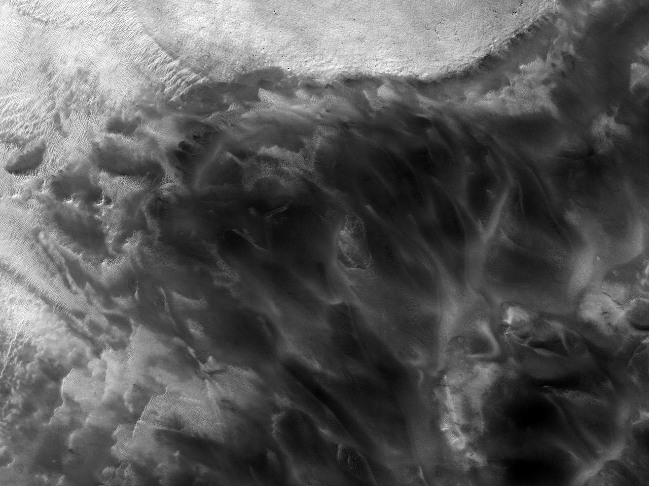 Изменения дюн в Южном полушарии