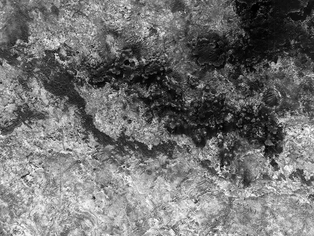 Sito candidato all'atterraggio di ExoMars nella Valle Mawrth