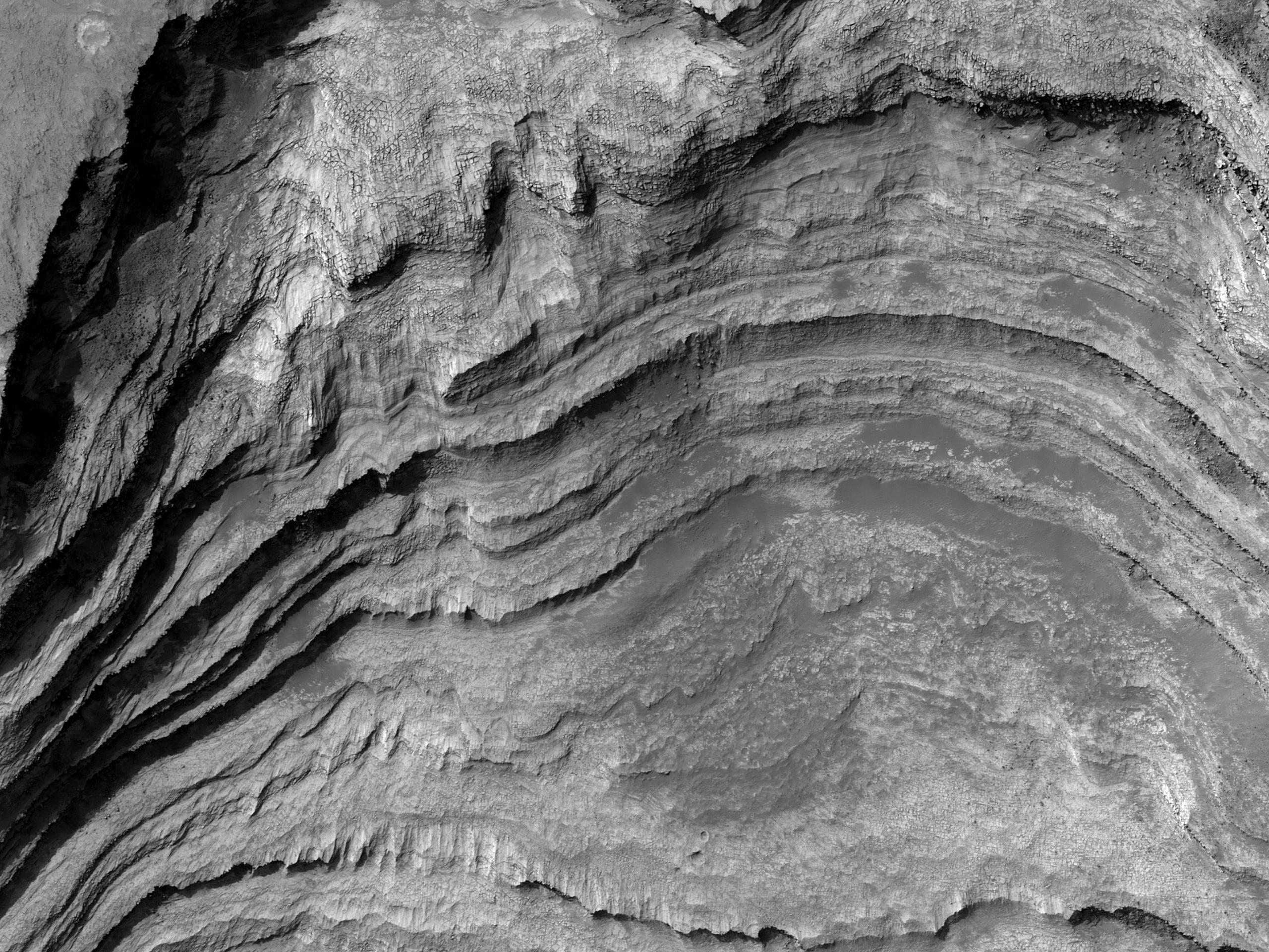Affioramenti idrati nel Cratere Terby