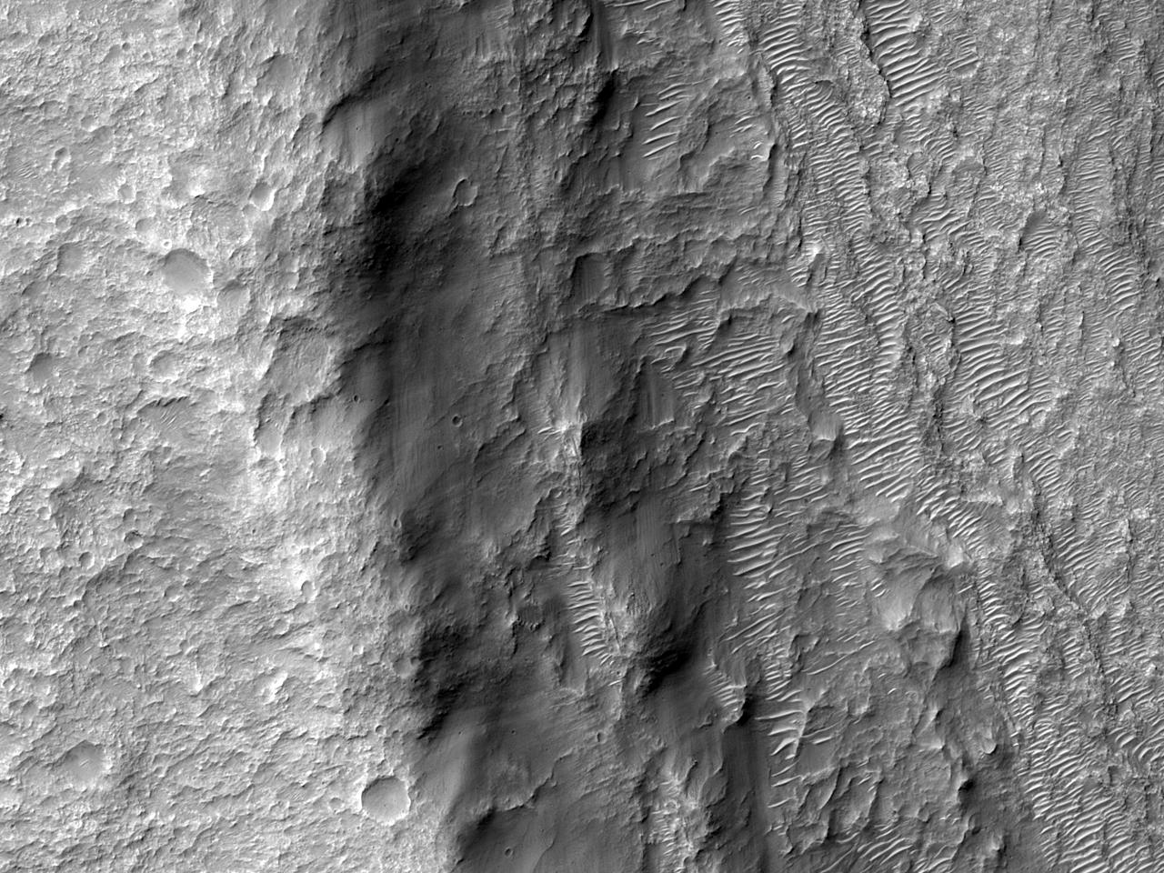 Стратиграфия, проявленая в стенке кратера