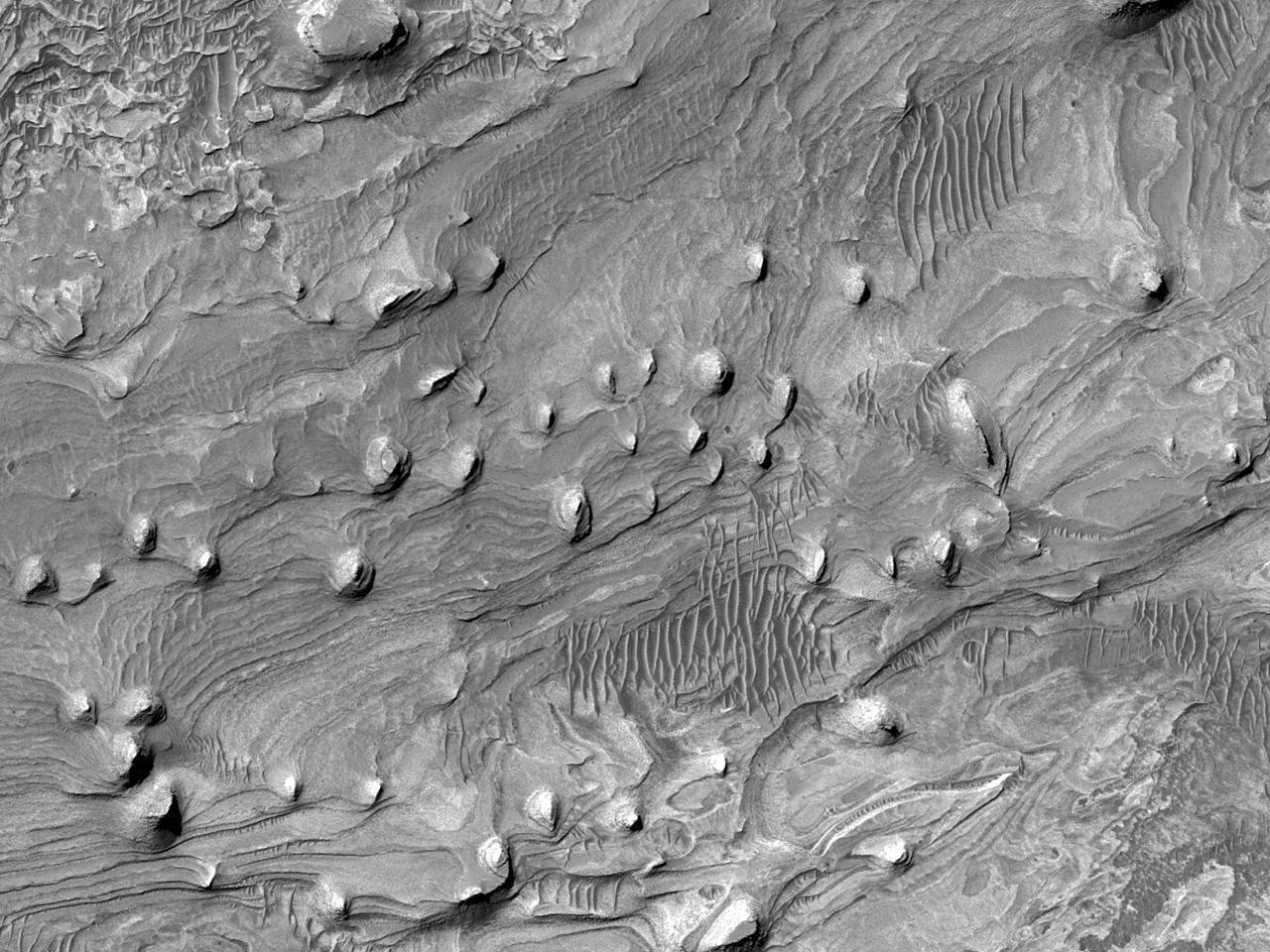 Холмы на западе каньона Candor Chasma