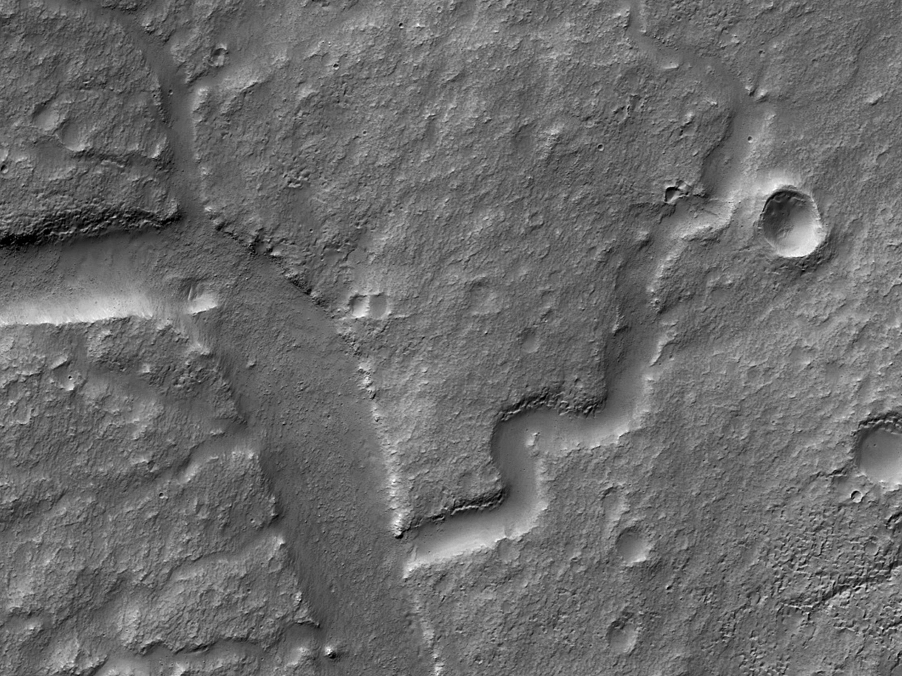 قنوات في منطقة غورغونوم كايوس (Gorgonum Chaos)