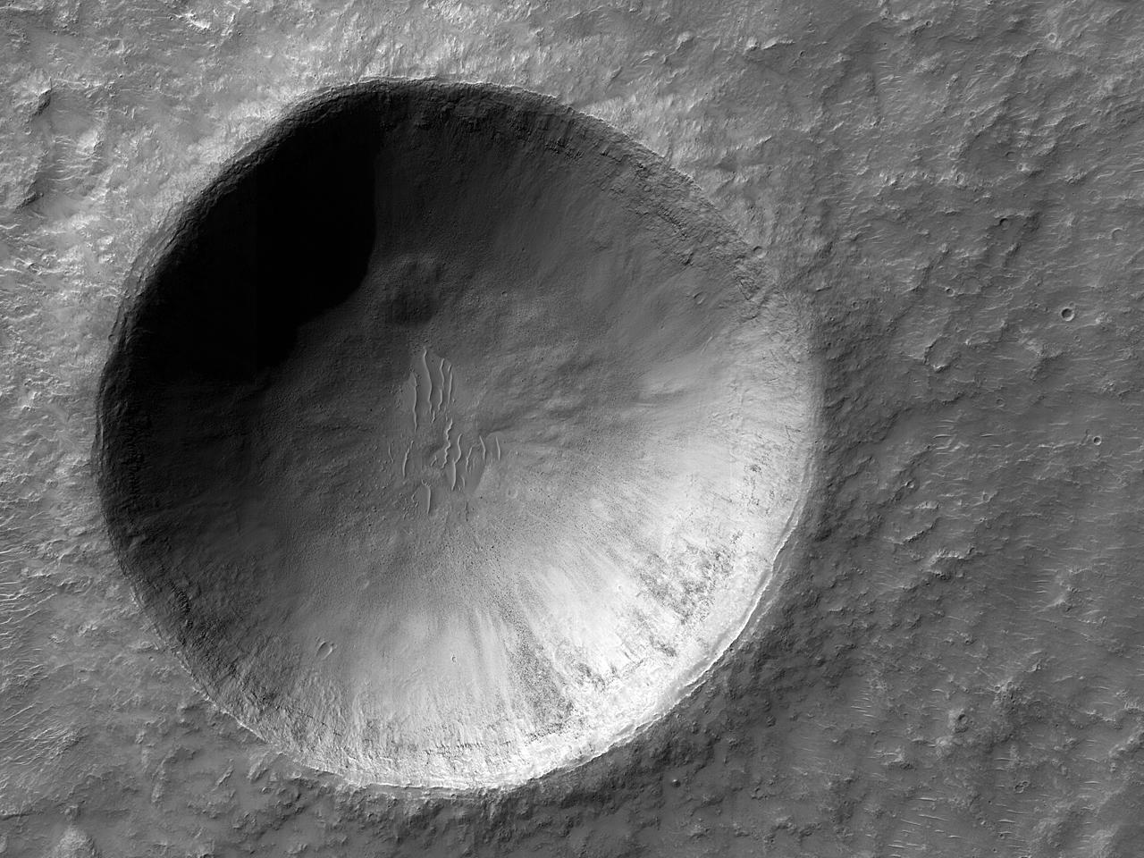 Современный 2-километровый кратер