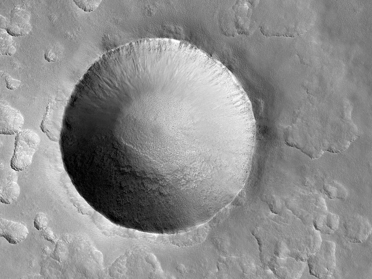 Un deosebit crater de impact