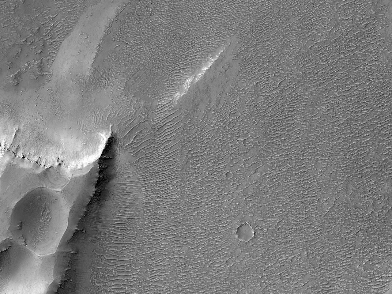 Группа впадин в каньонах Arsia Chasmata