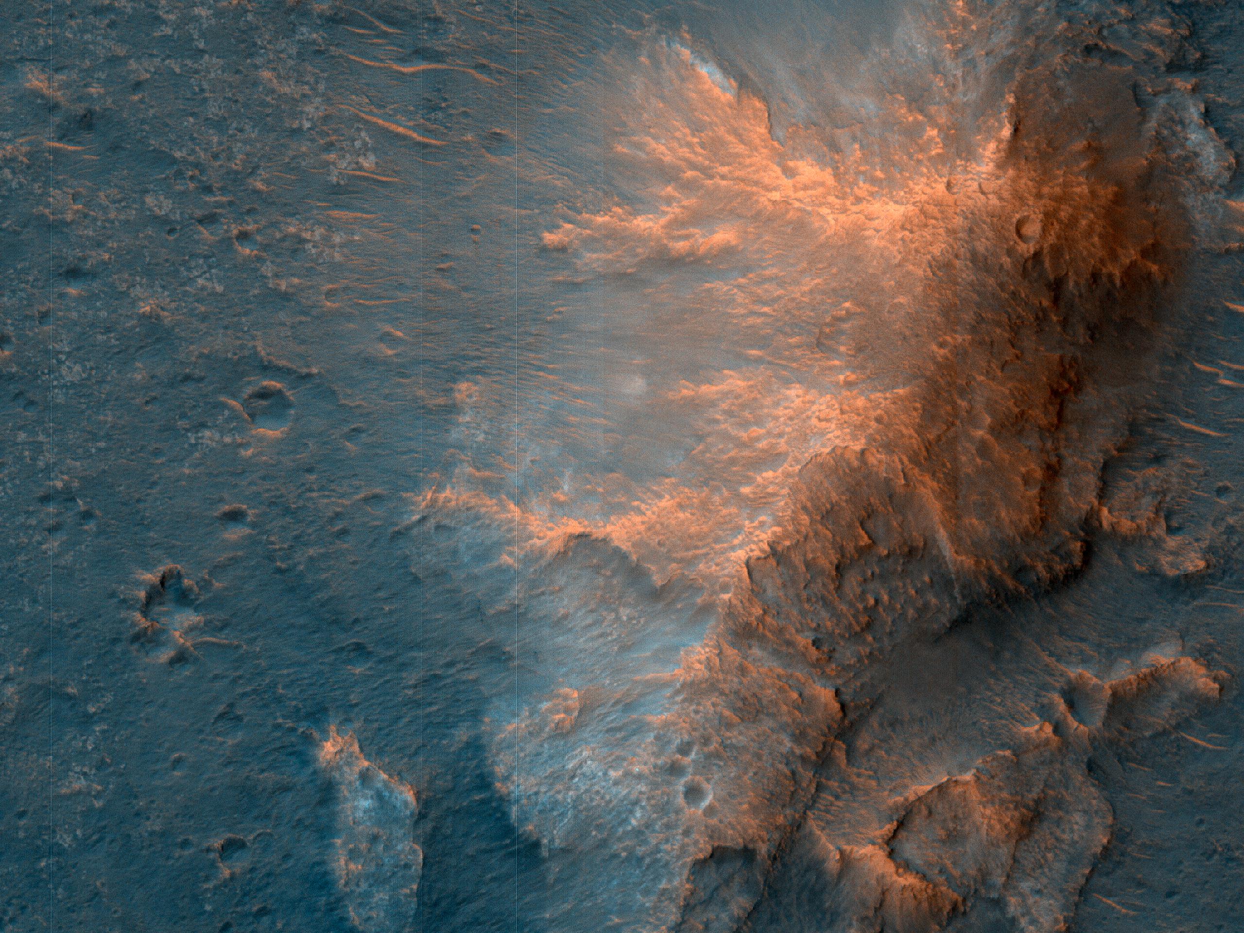 Возможное место посадки миссии ExoMars в болоте Oxia Palus