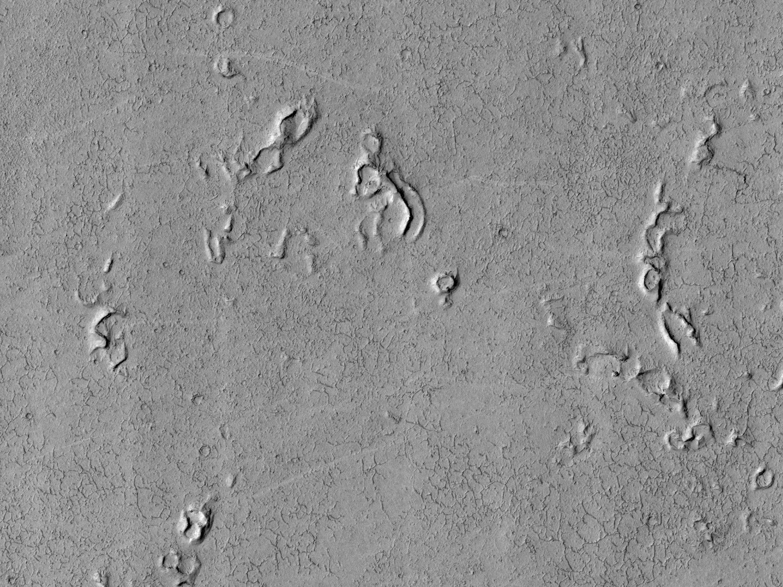Конусы на равнине Amazonis Planitia