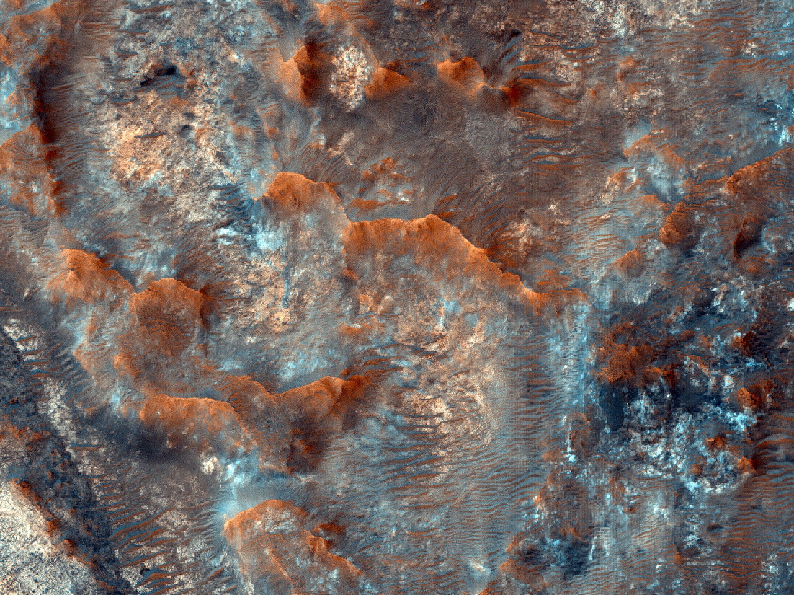 Возможное место посадки миссии ExoMars в долине Mawrth Vallis