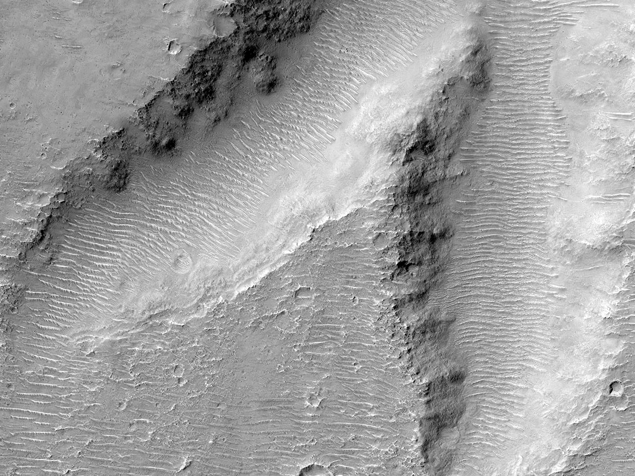 Формы рельефав горахLibya Montes