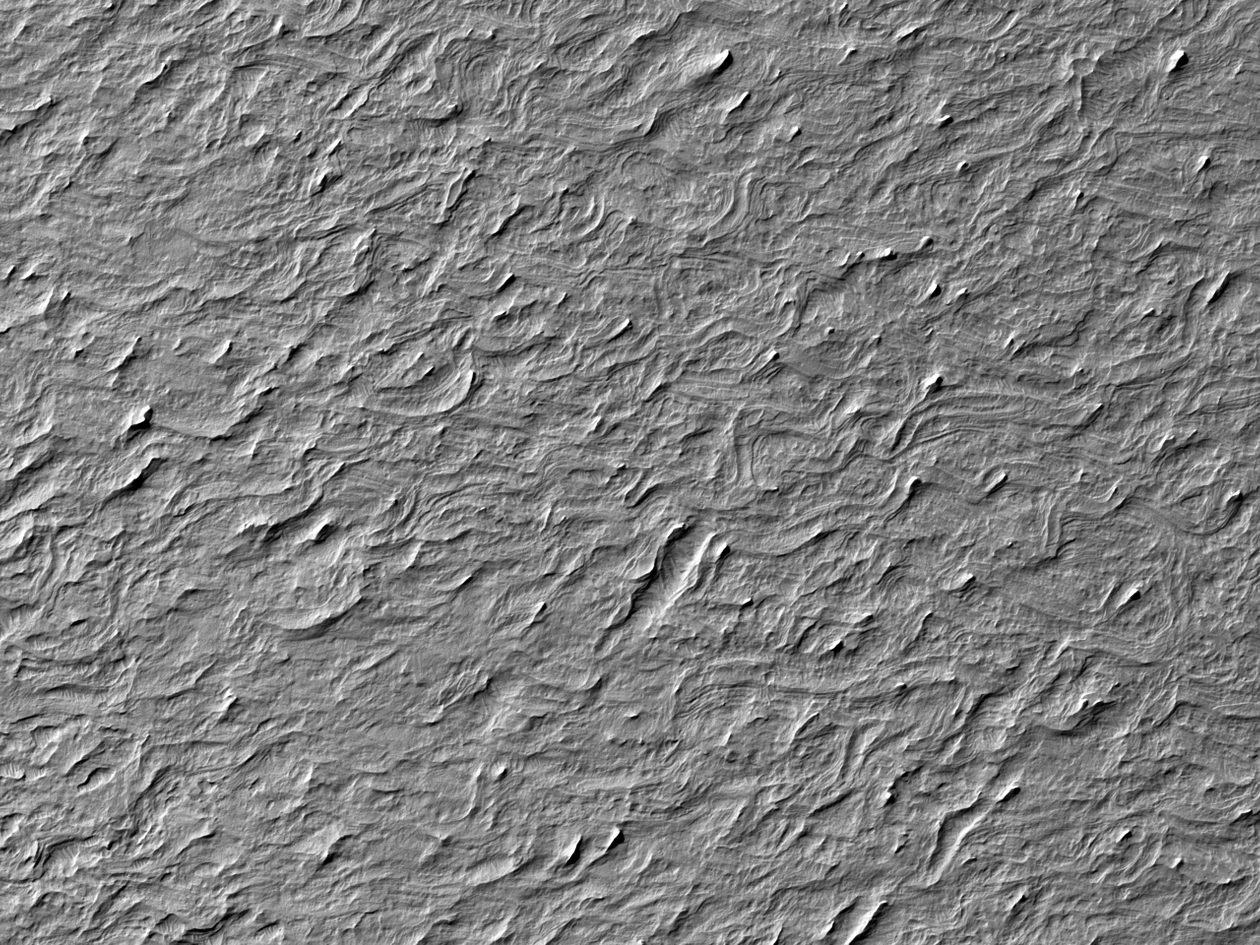 Teren ondulat în Medusae Fossae