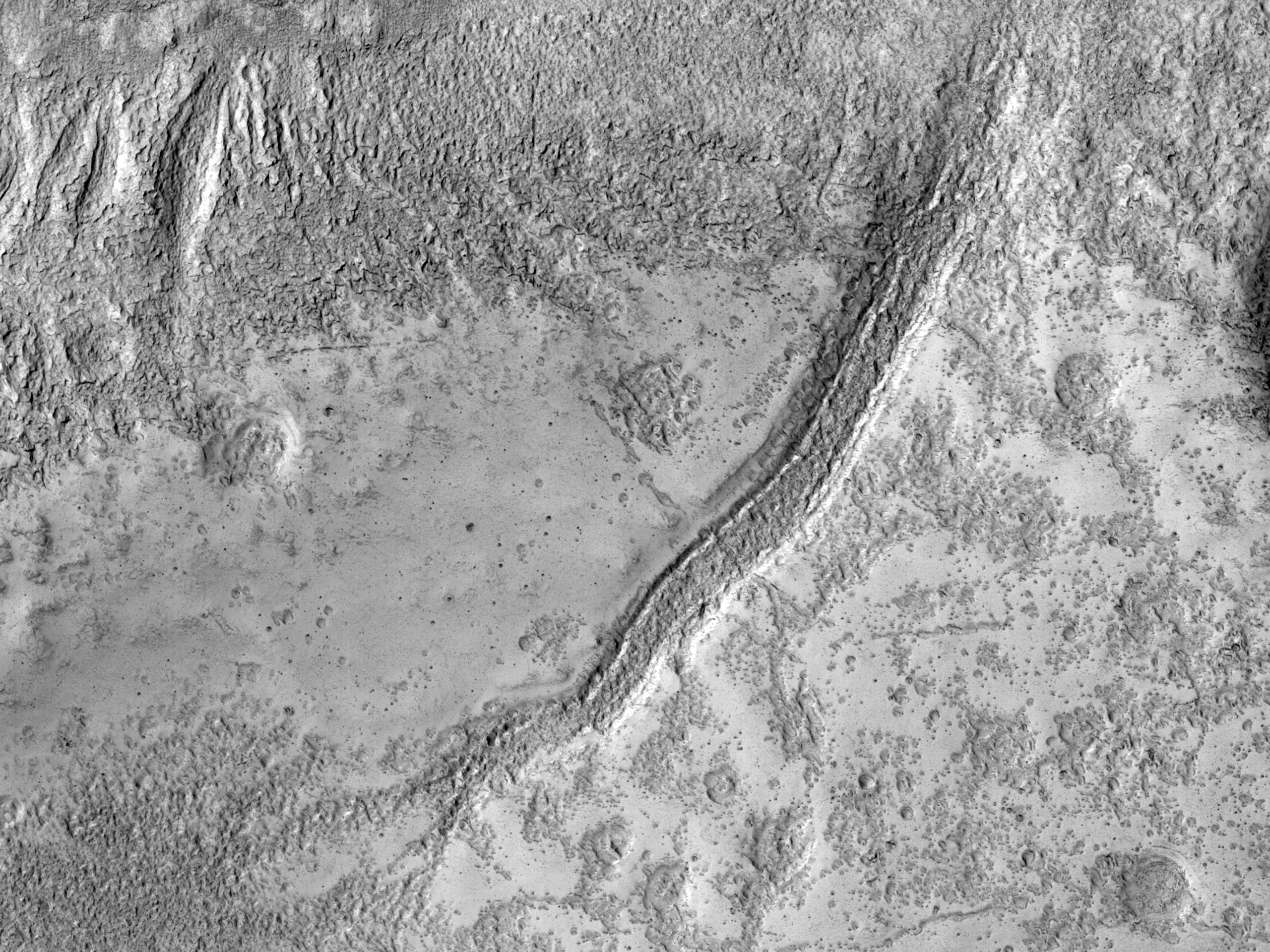 Depozite de sedimente în partea de nord a Arabia Terra