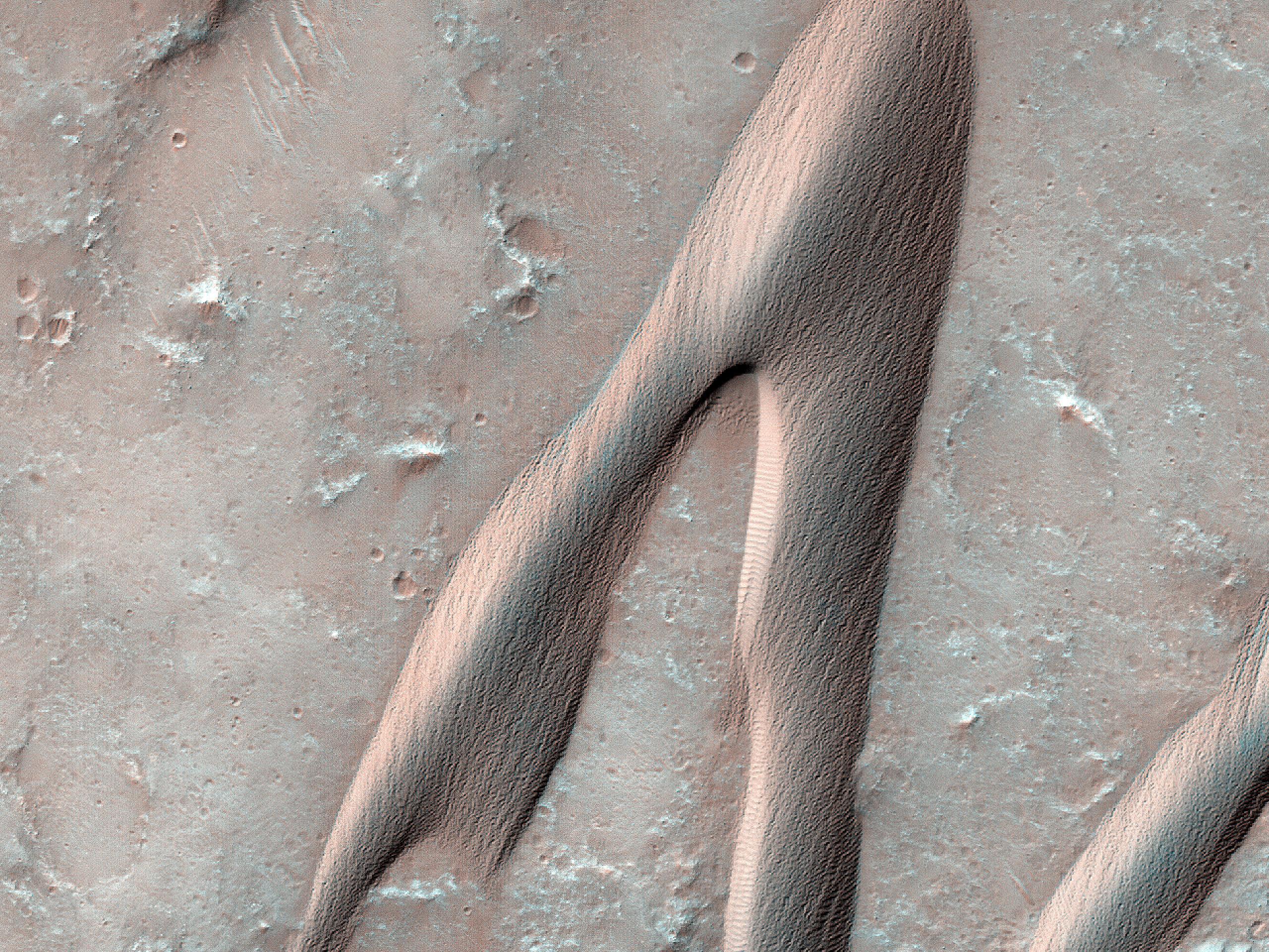 Barcane nel cratere Herschel
