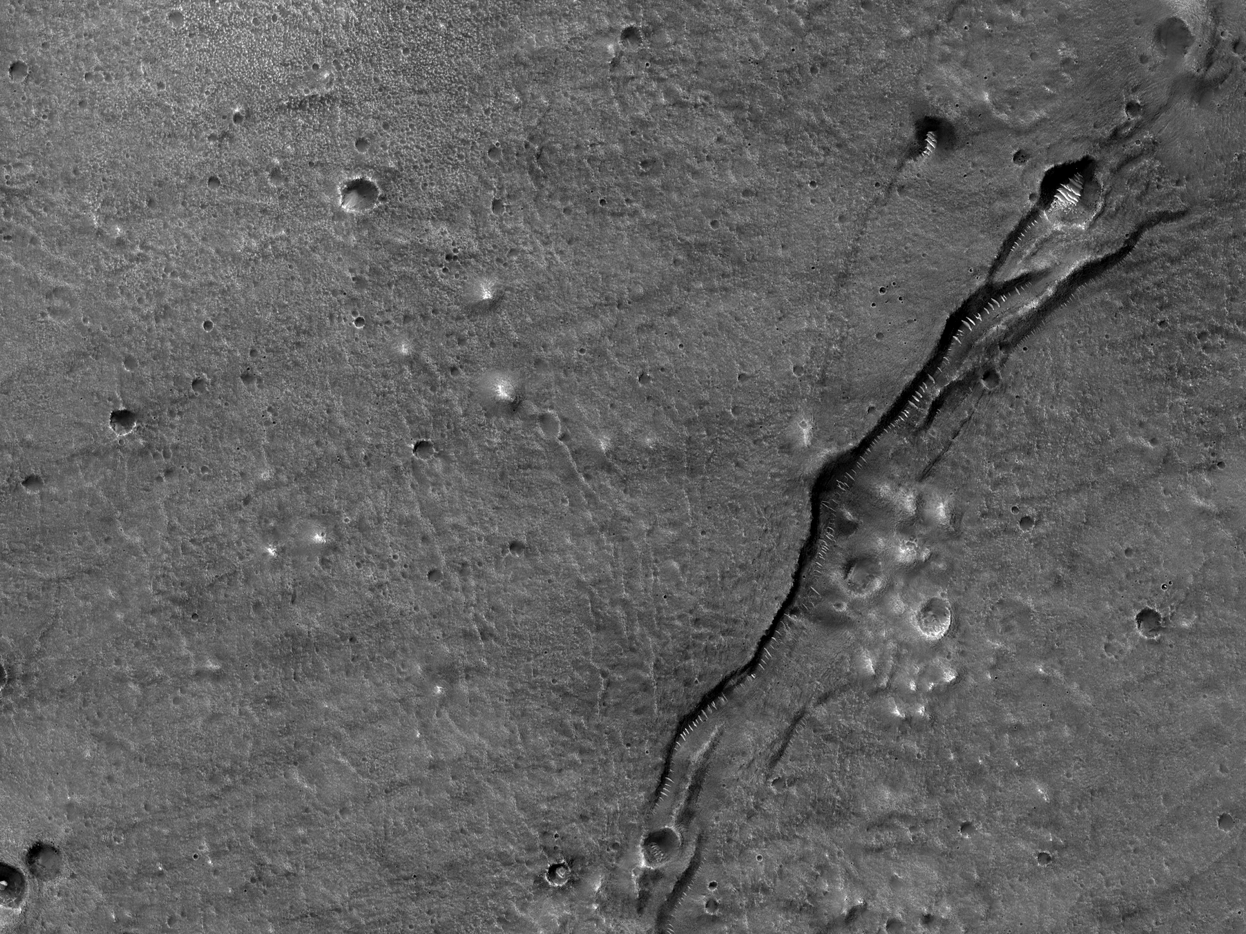 Sprunga í Utopia Planitia