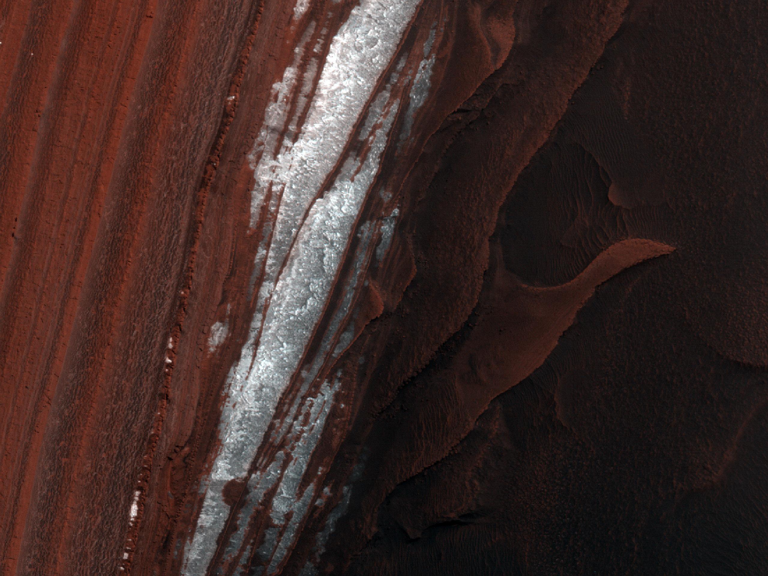 מדרון תלול במרבצים באזור של קוטב הצפוני