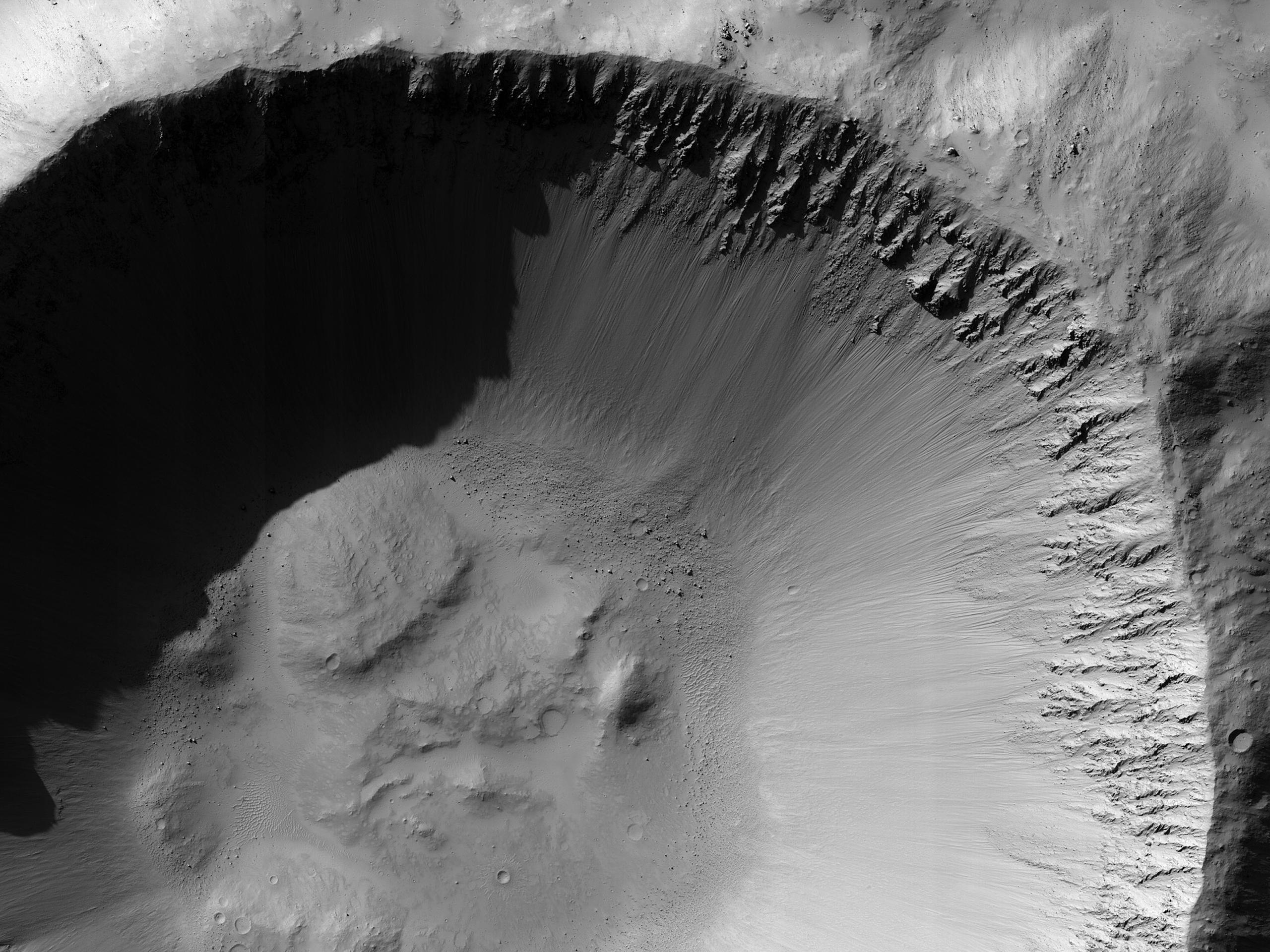 אזור אפשרי למחקר אנושי ליד מכתש גוסב (Gusev)