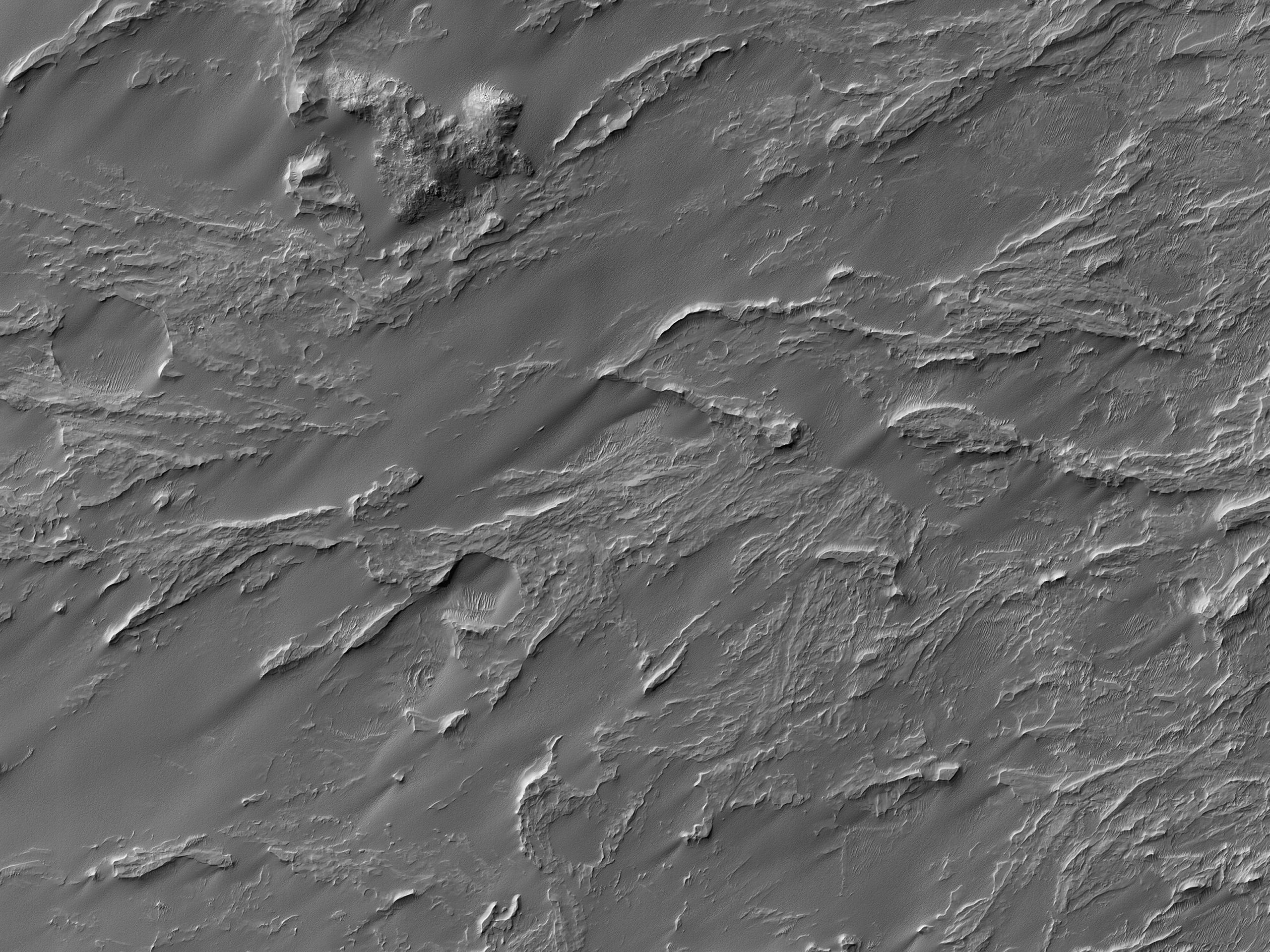 Ventaglio alluvionale in Roddy Crater