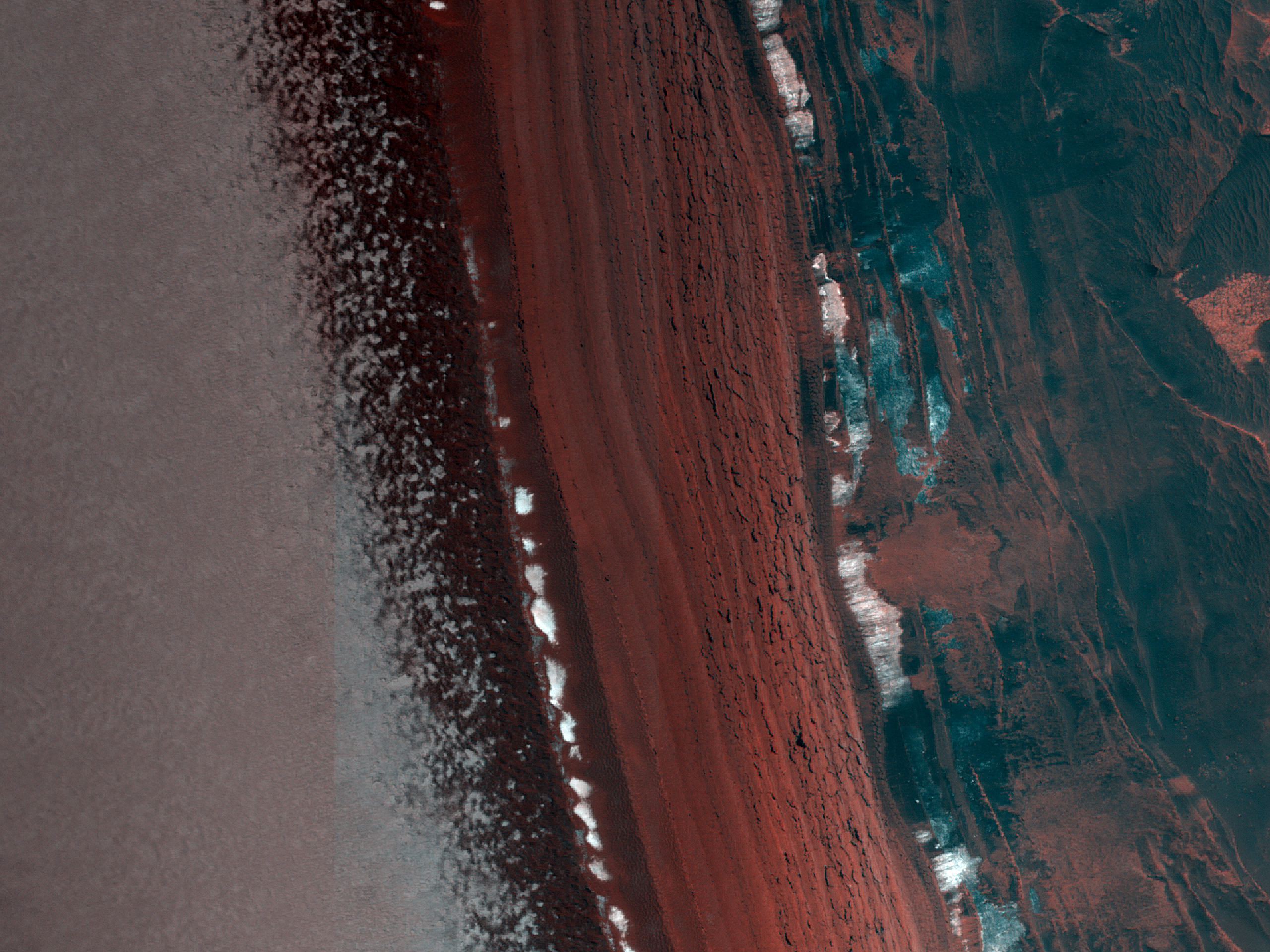 Monitoraggio di una valanga su una scarpata di depositi stratificati attiva nel Polo Nord