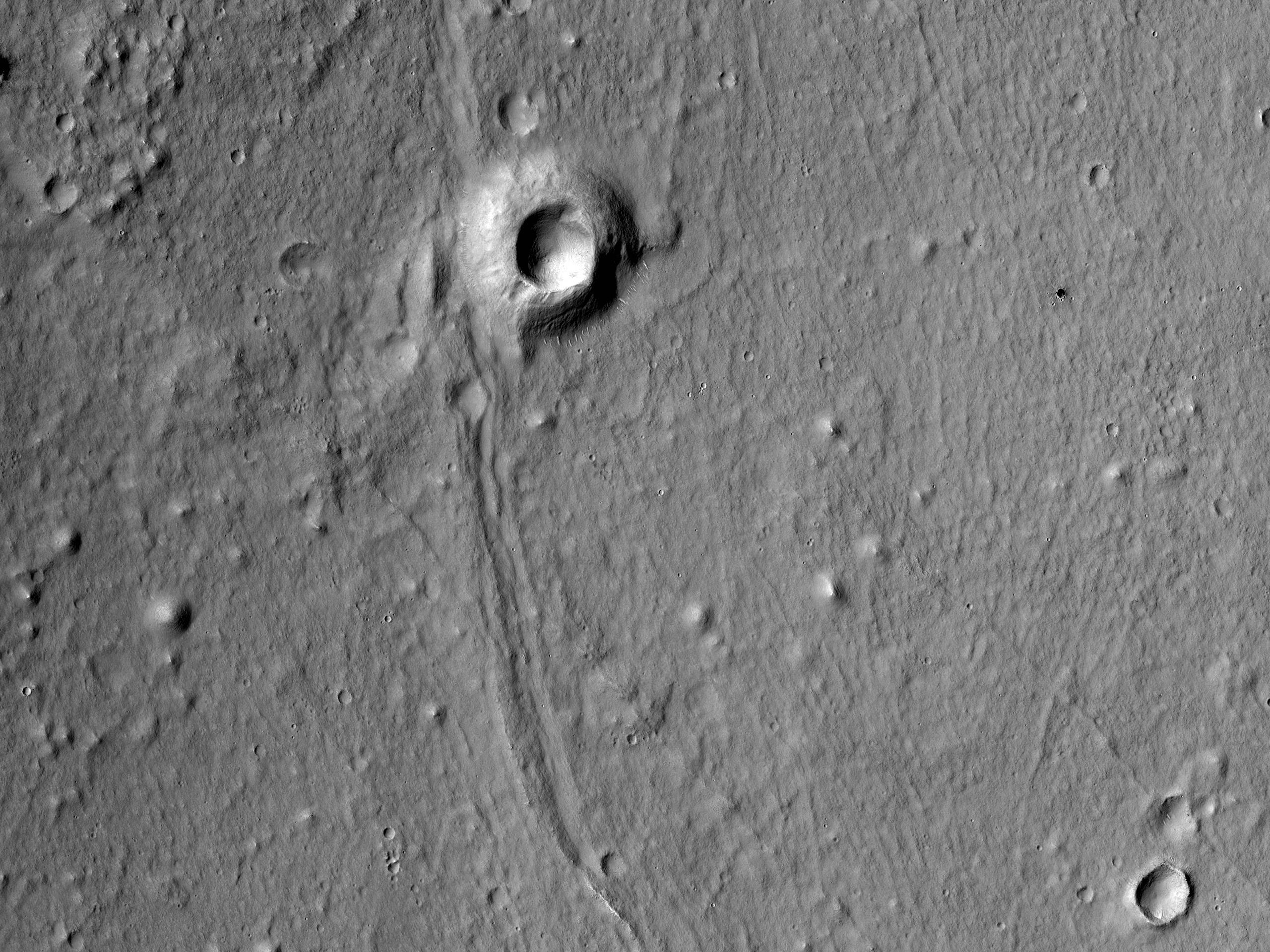 Formazioni geologiche in Utopia Planitia