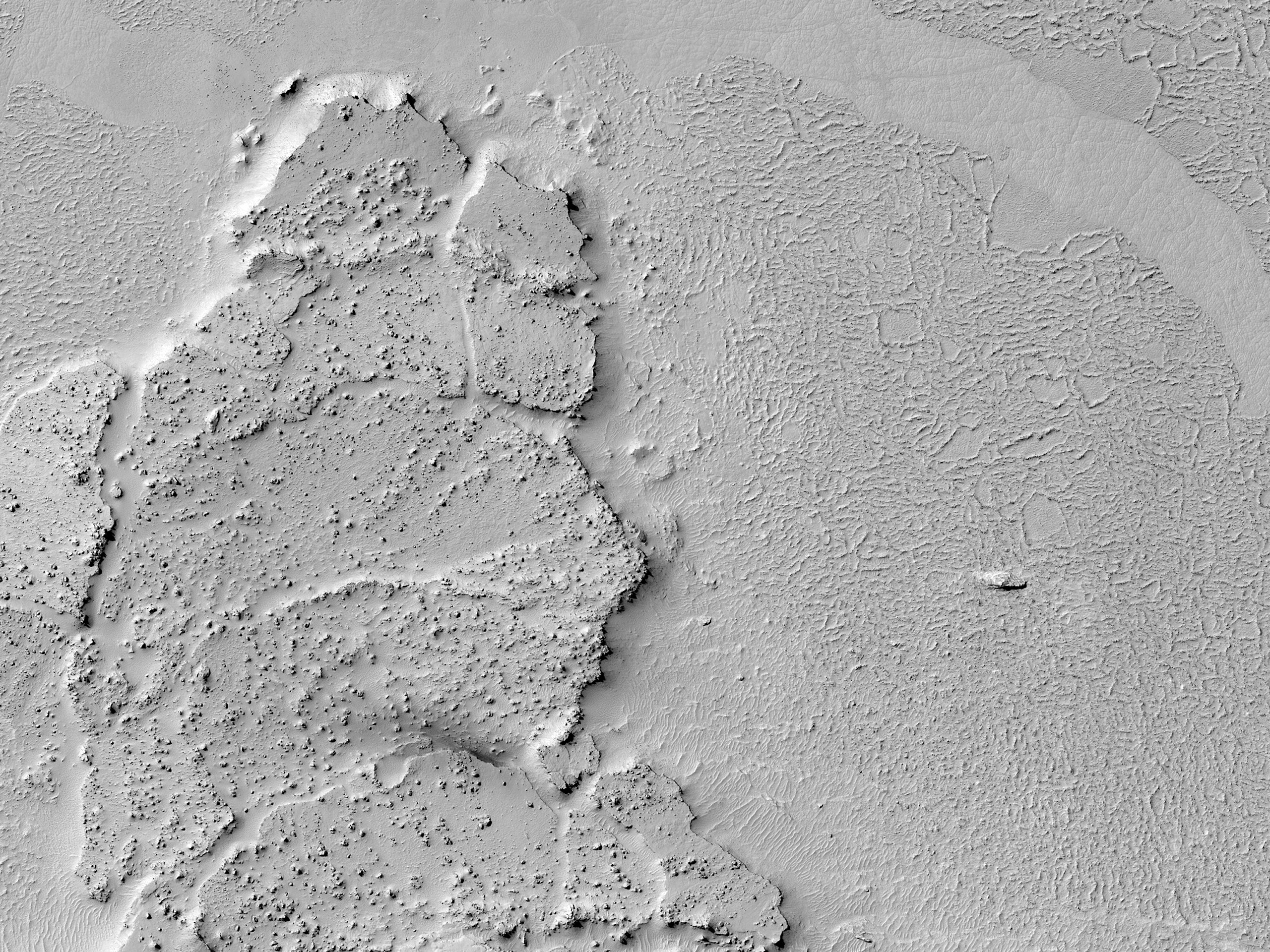 Lava Contact in Athabasca Valles