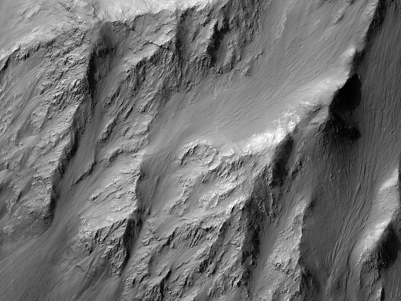 Slopes on the North Wall of Coprates Chasma