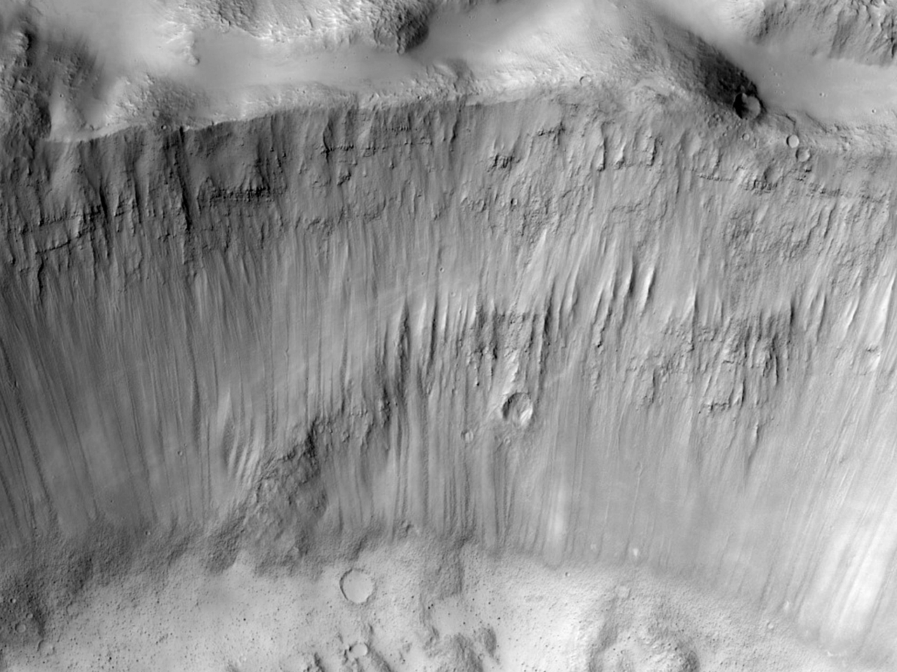 Layers in a Crater Near Phlegra Montes