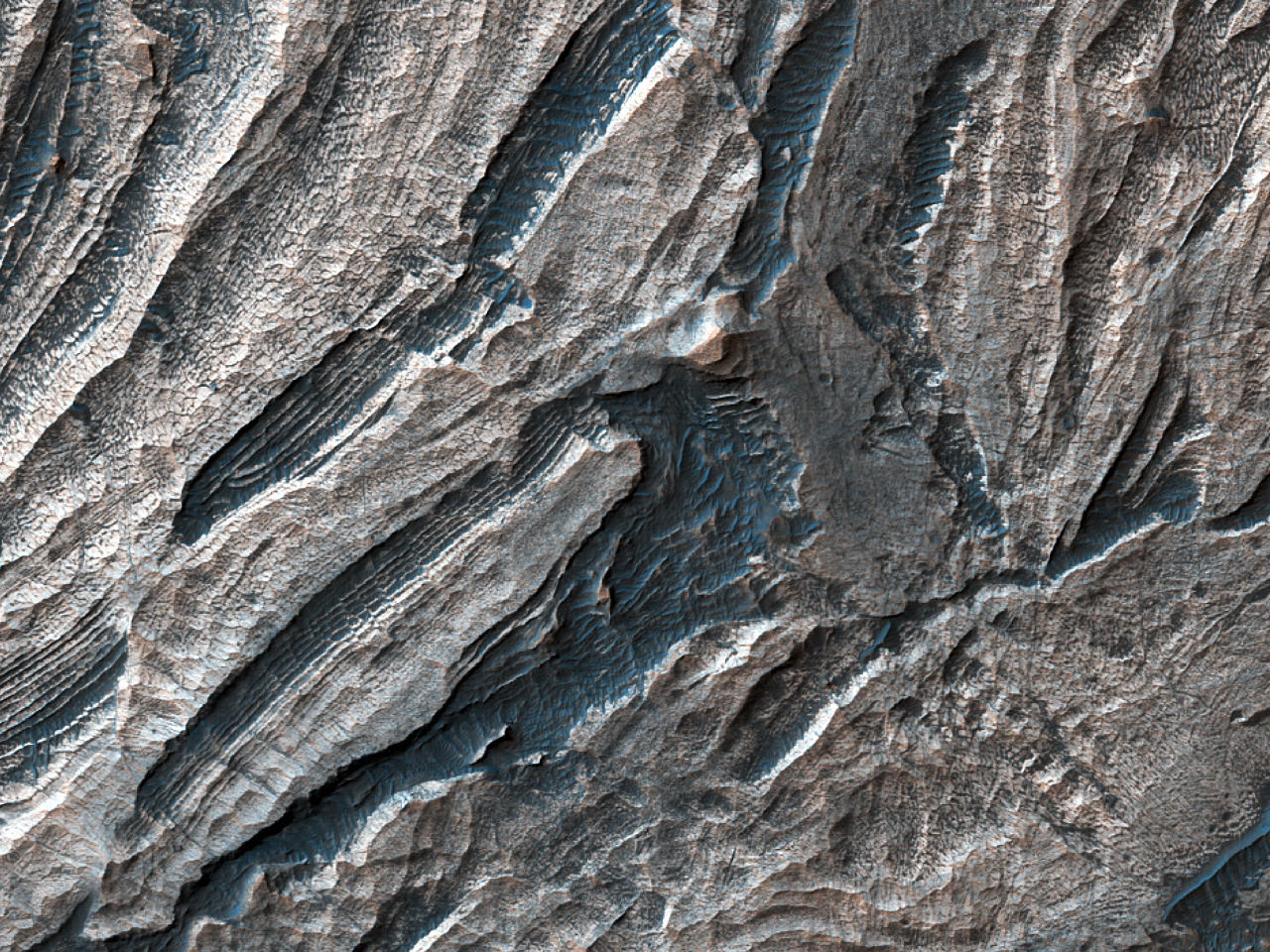 Survey Layering and Faulting in Layered Deposits in Candor Chasma