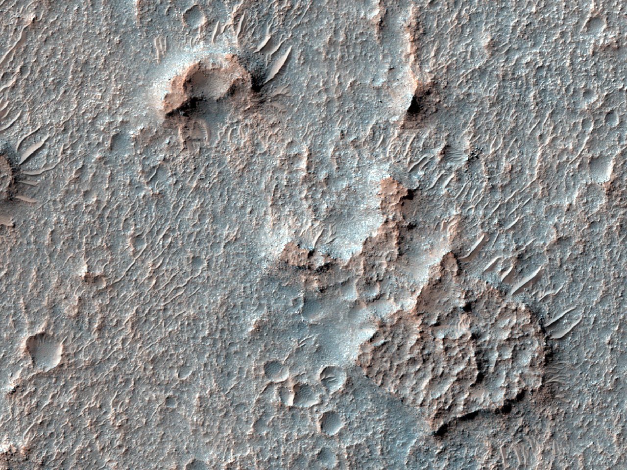 Bedrock Exposures in Terra Sabaea