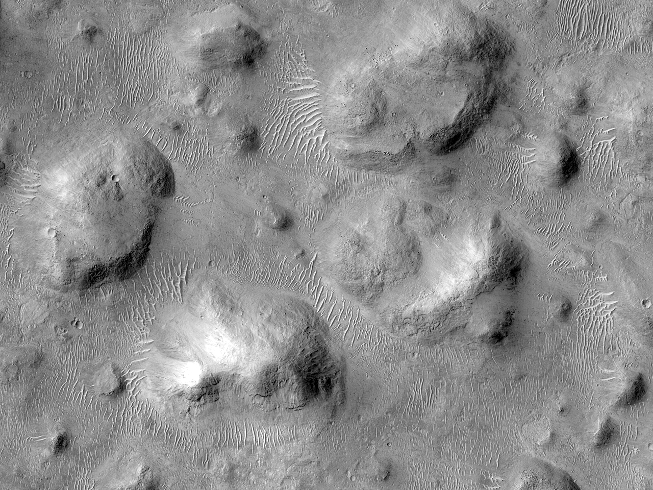 Mini-Chaos Terrain in Filled Crater