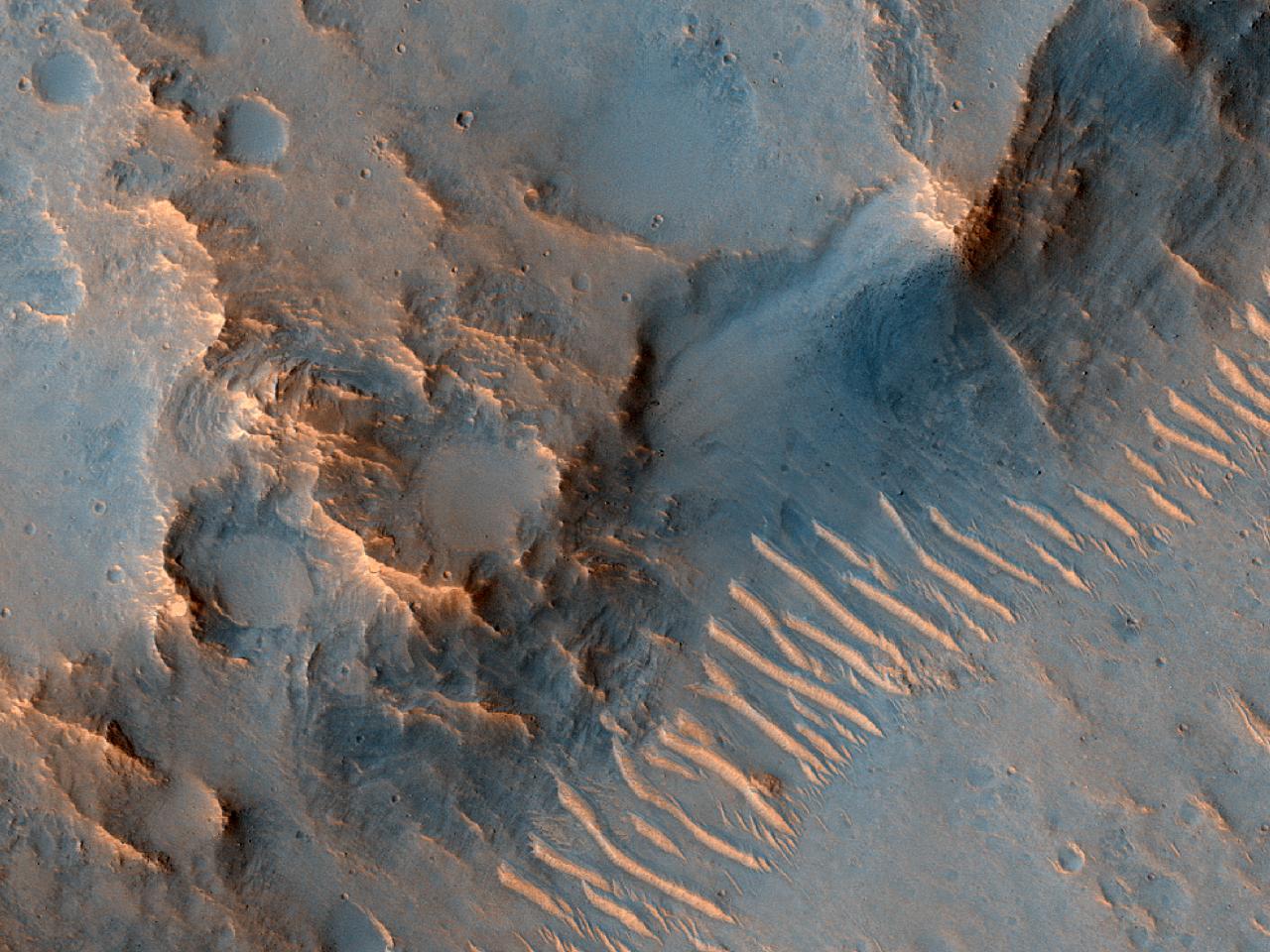 Ejecta Margin Near Ares Vallis