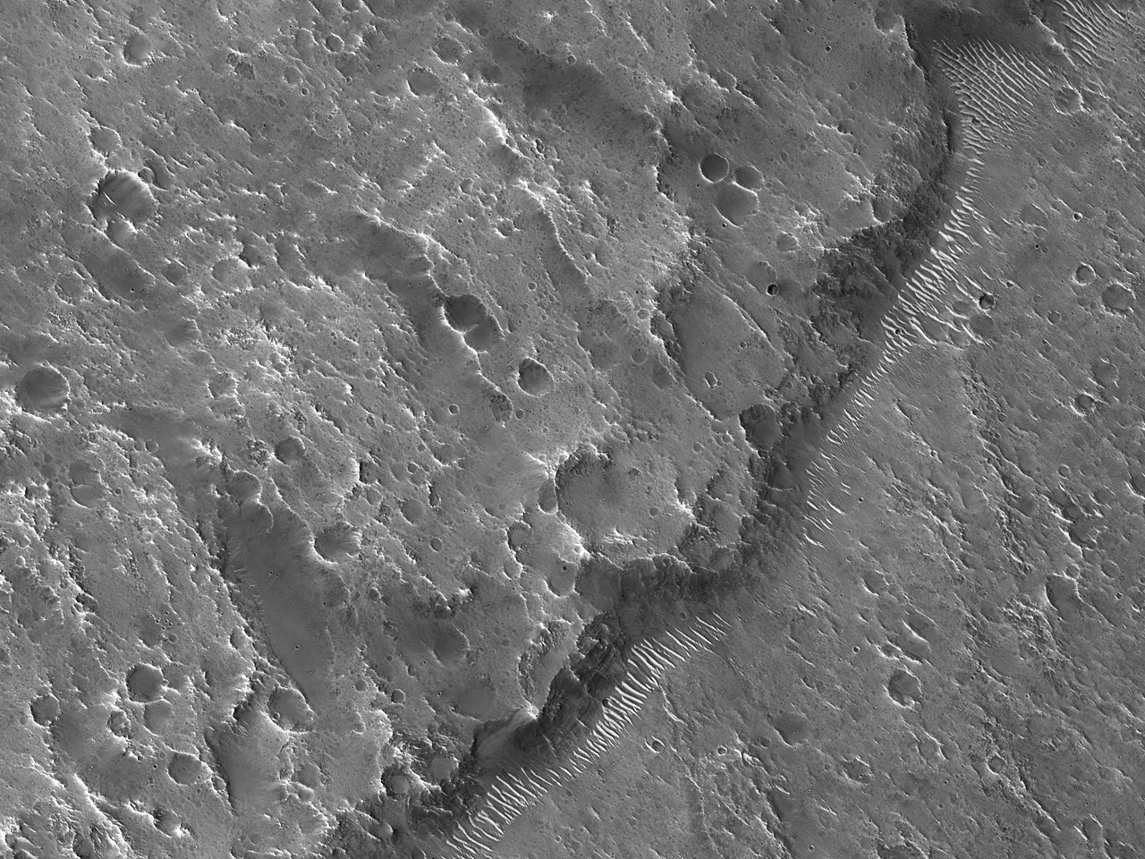 Ejecta Margin Near Ares Vallis