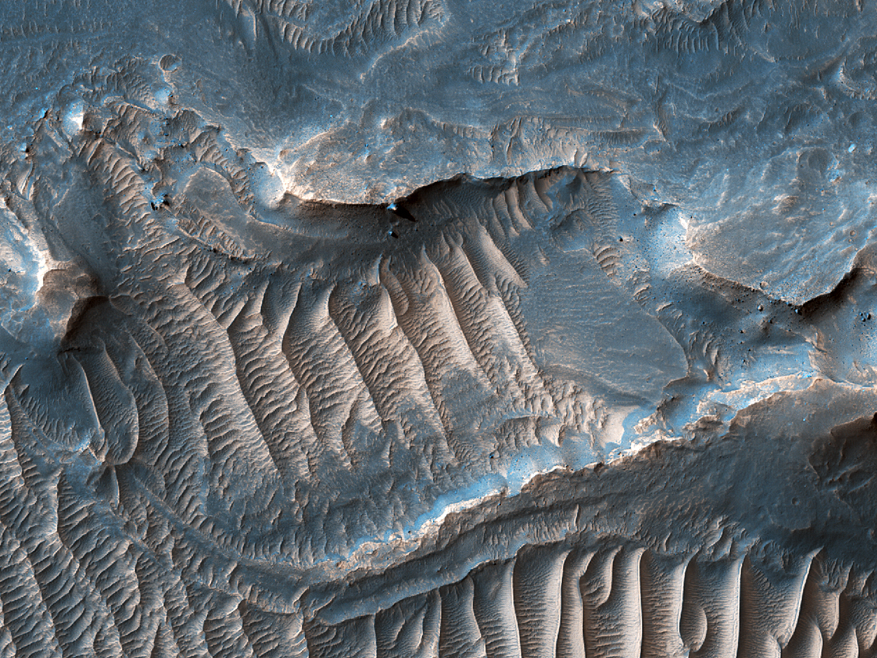 Ripples in Noctis Labyrinthus