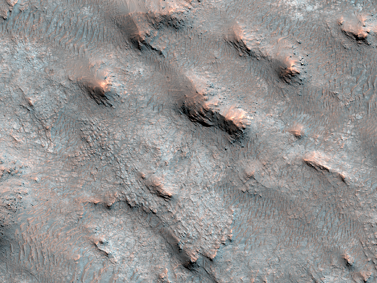 Pitted Crater Floor Material