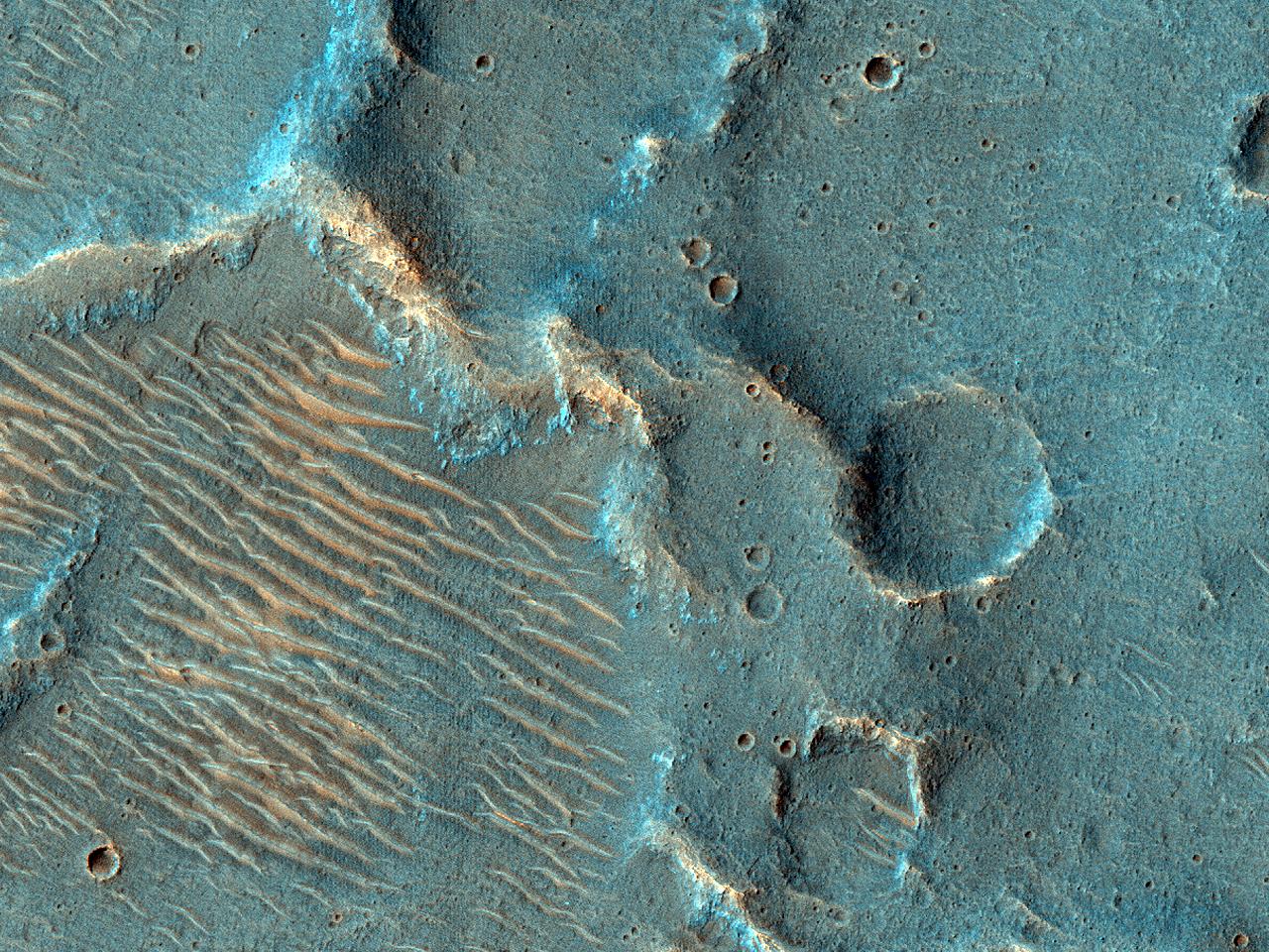 Positive Relief Features in Xanthe Terra
