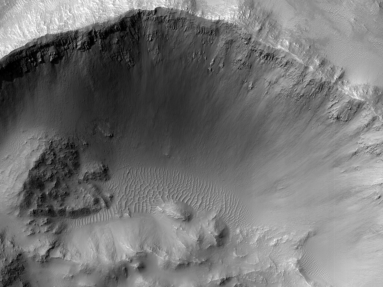 Here, Within a Crater