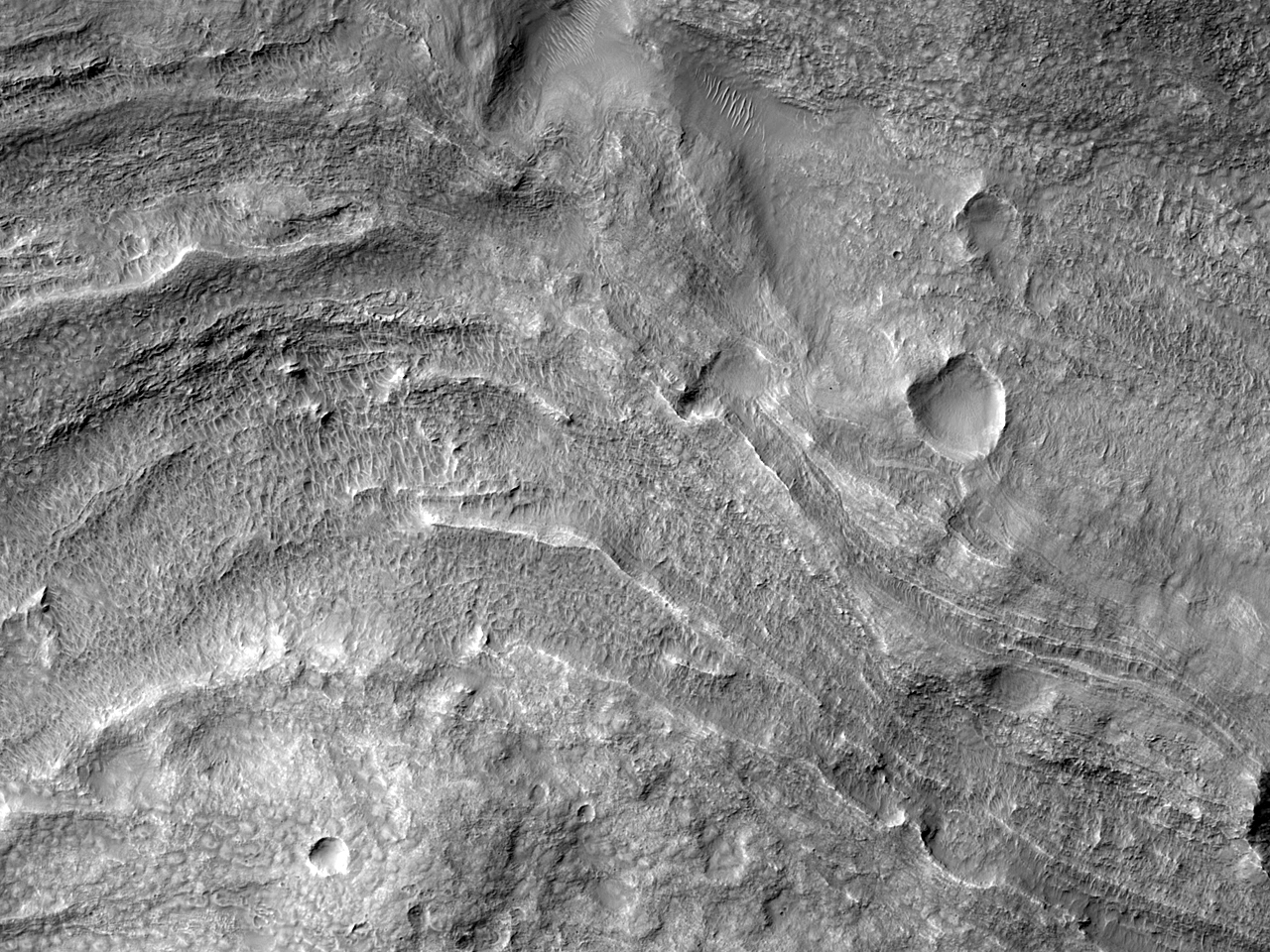 Flow Ejecta from a Crater in East Hellas Planitia