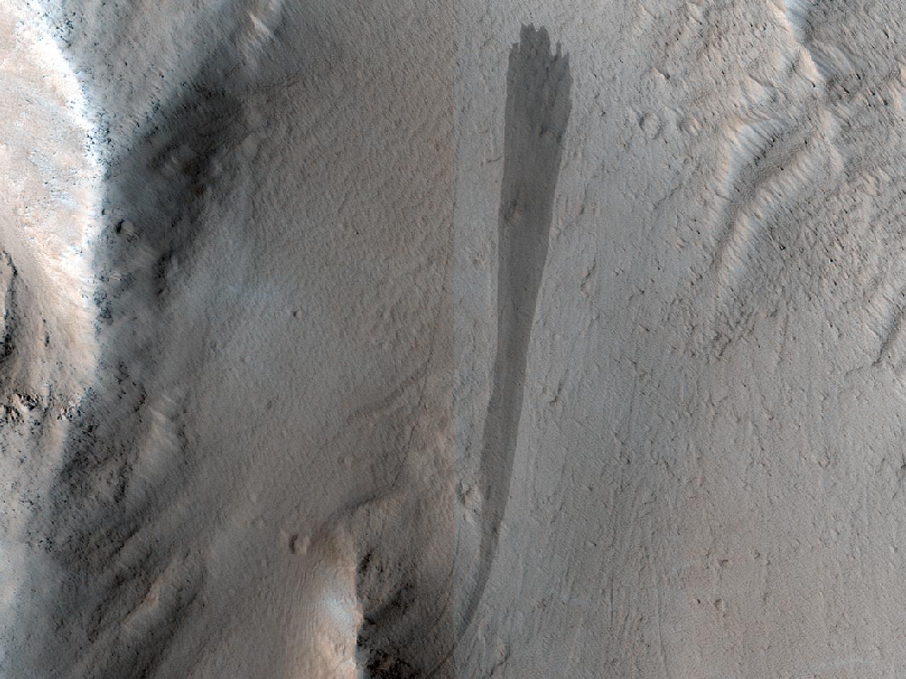 Olympus Mons Landslides