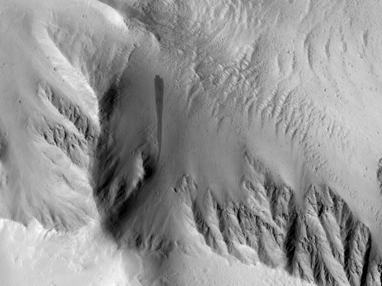 An Olympus Mons Landslide