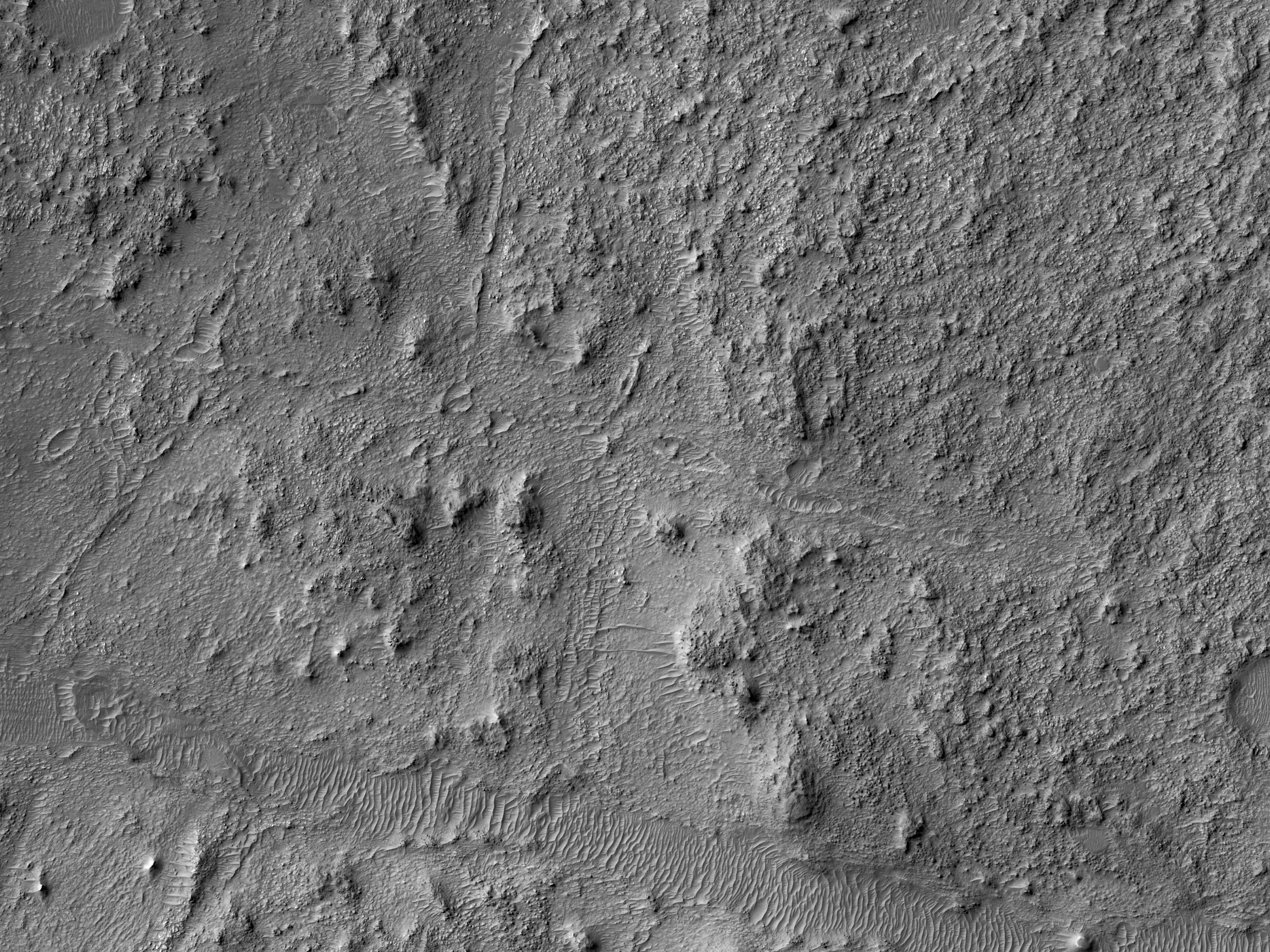 Fractured Bedrock on a Crater Floor