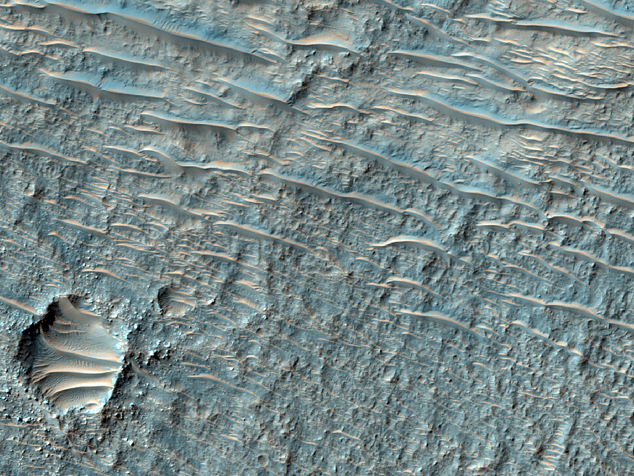 Peraea Cavus Sinuous Ridge and Bright Deposit