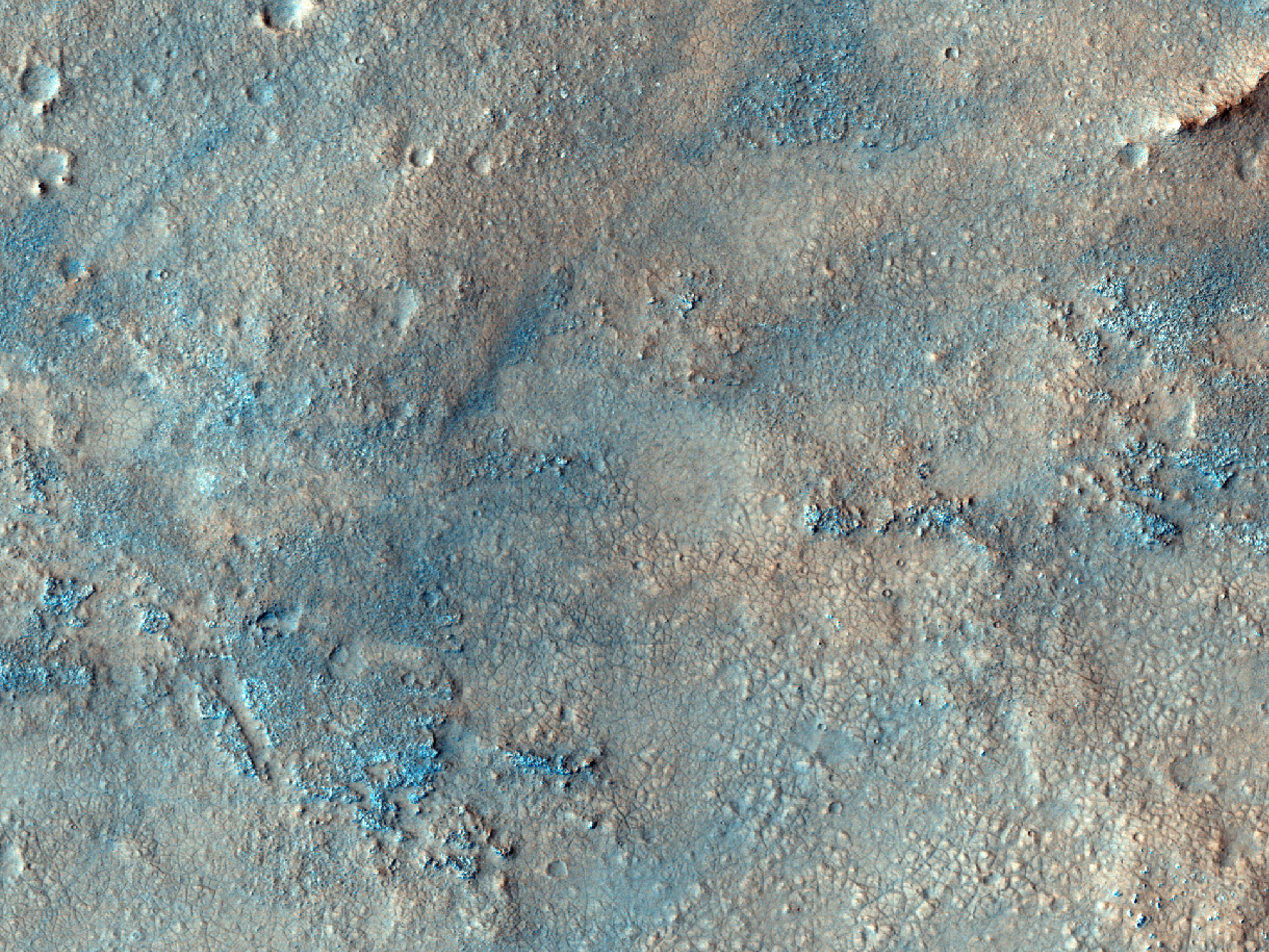 Floor of Antoniadi Crater