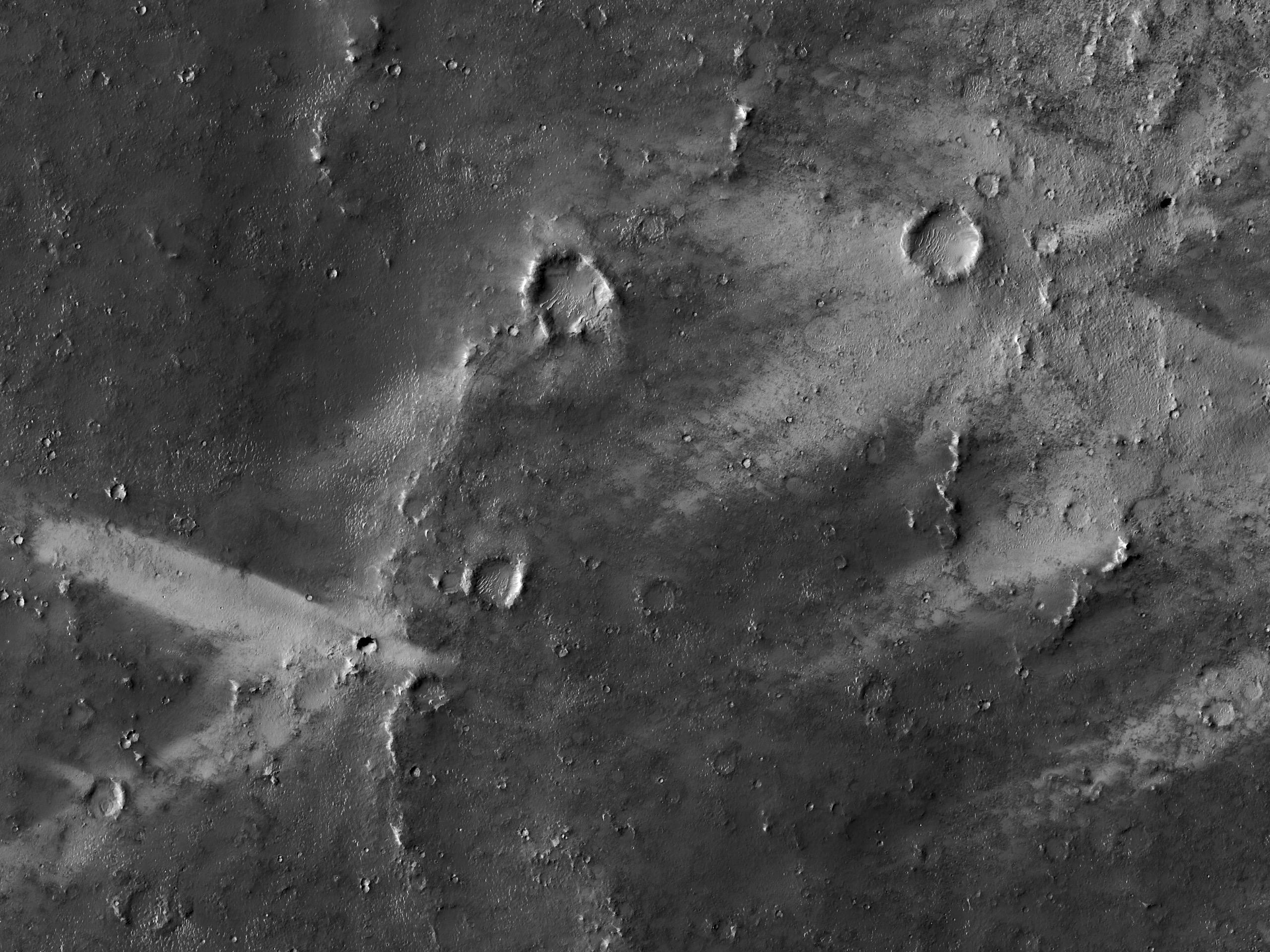 Streaking on Mars