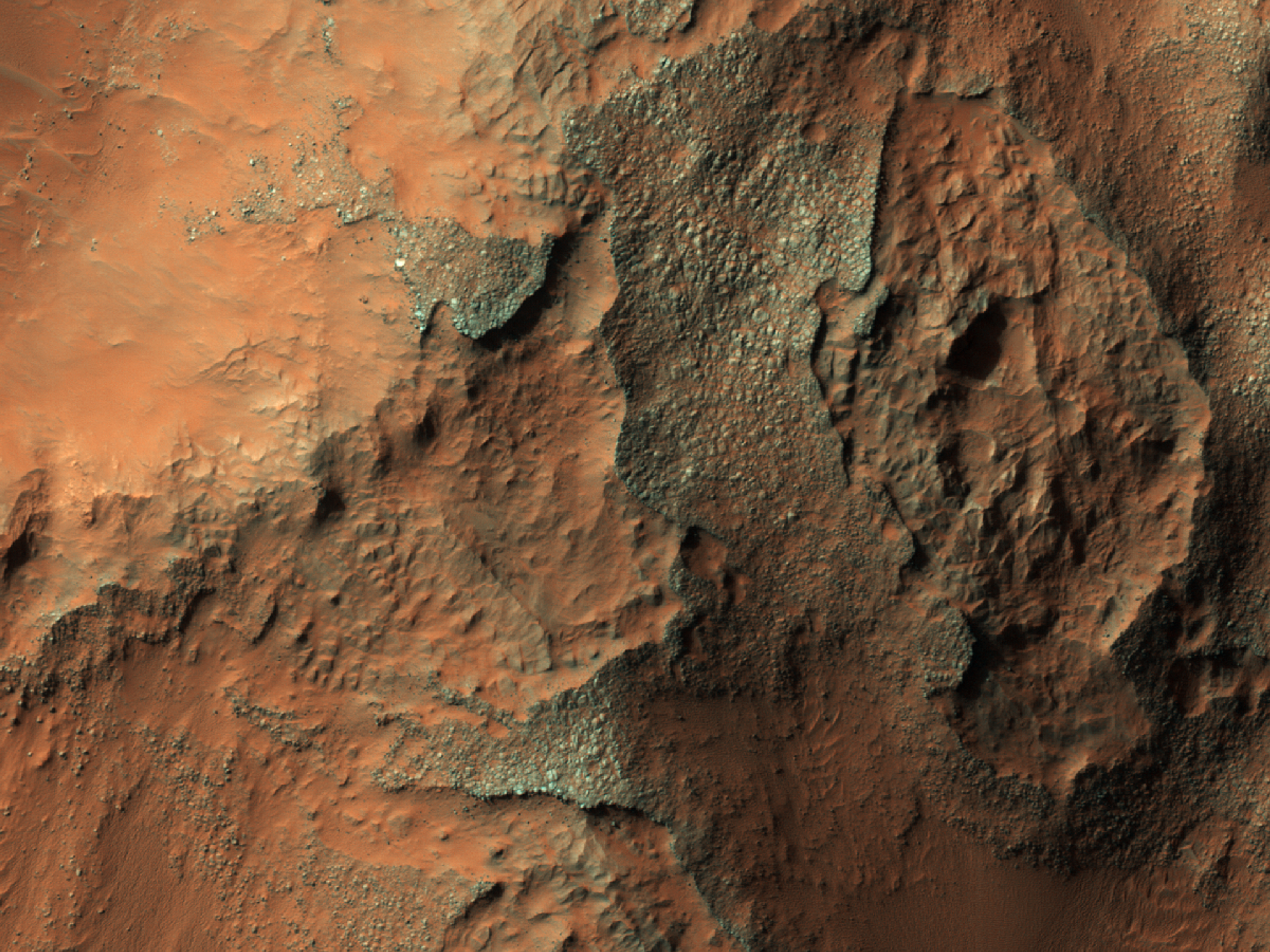 Holden Crater Impact Ejecta